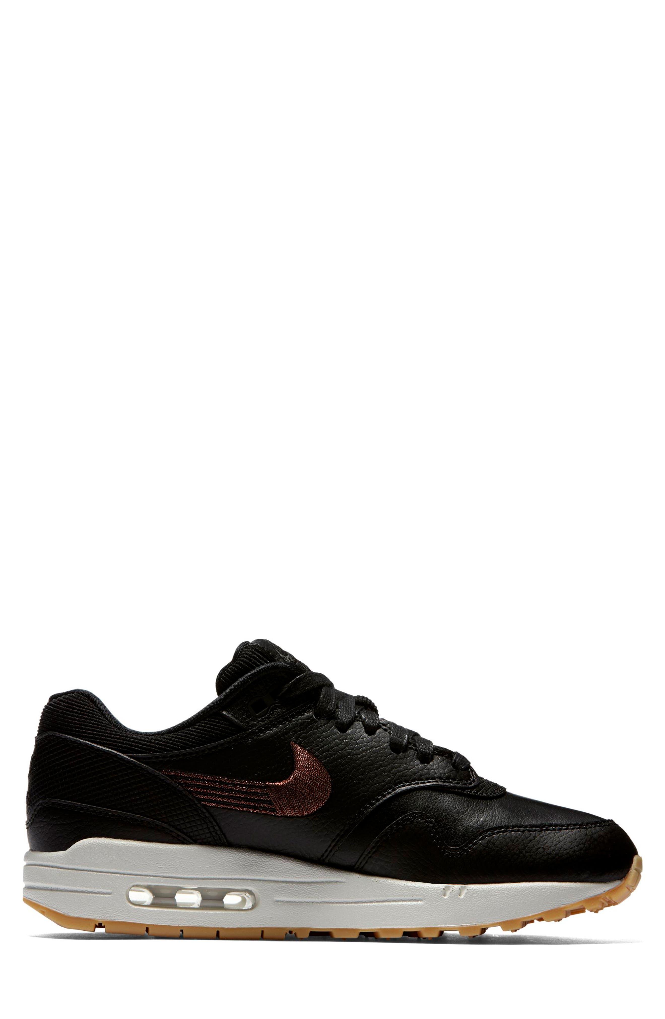 Air Max 1 Premium Sneaker,                             Alternate thumbnail 3, color,                             GREY