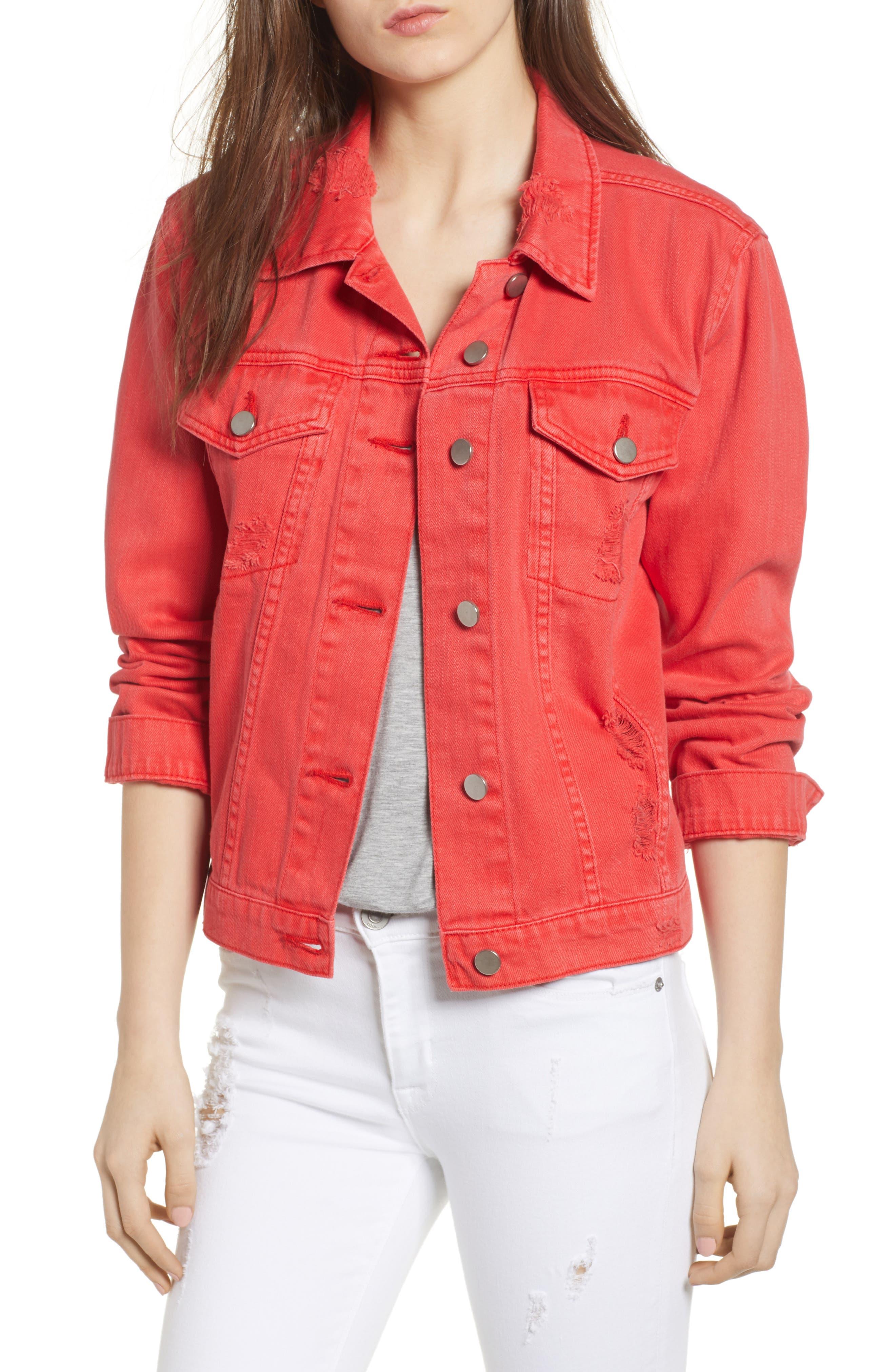 Decon Distressed Denim Jacket,                         Main,                         color,
