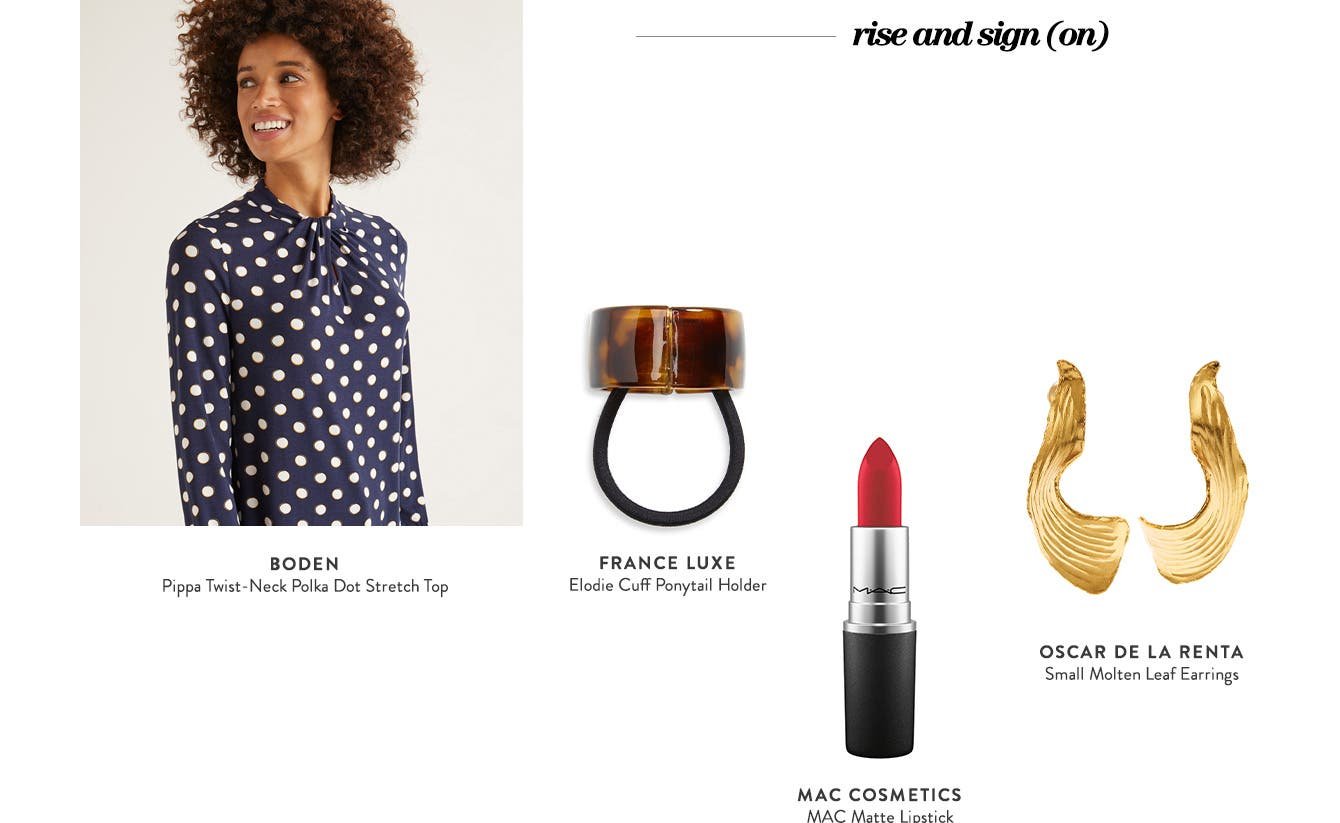 Style for the camera: rise and sign on; sweet in stripes; after-hours sparkle & shine.