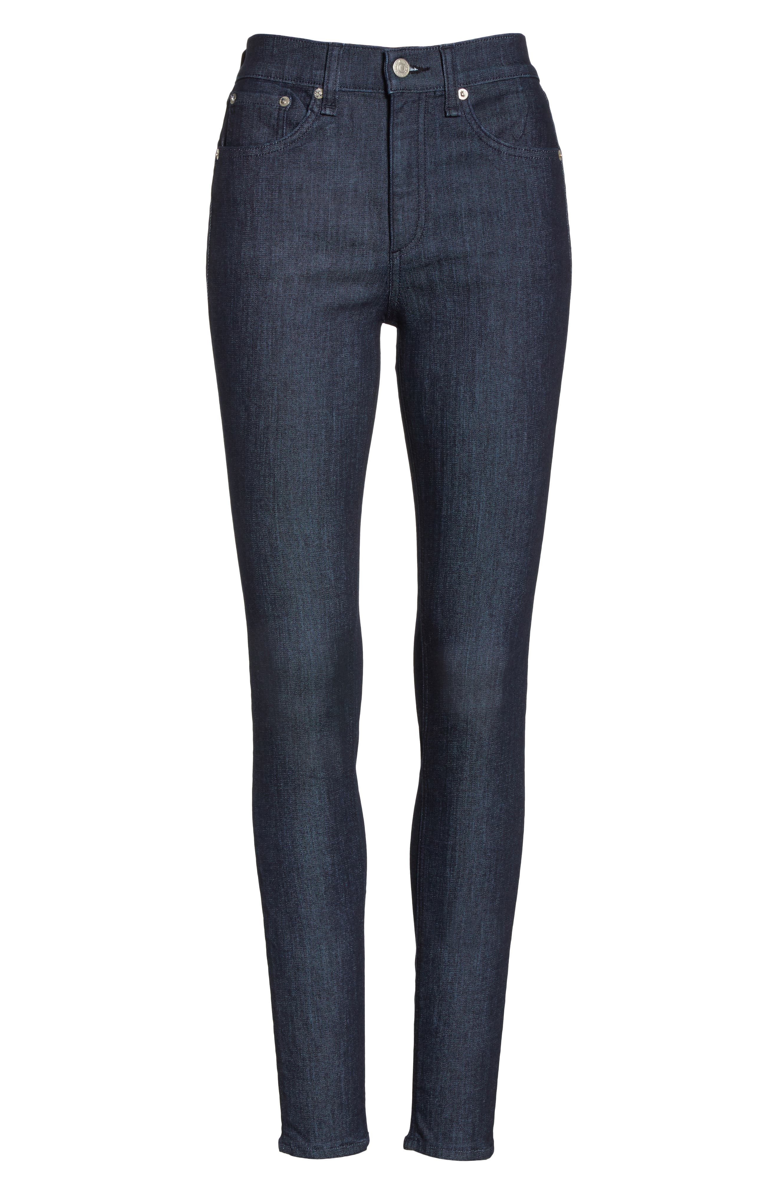Skinny Jeans,                             Alternate thumbnail 7, color,                             INDIGO