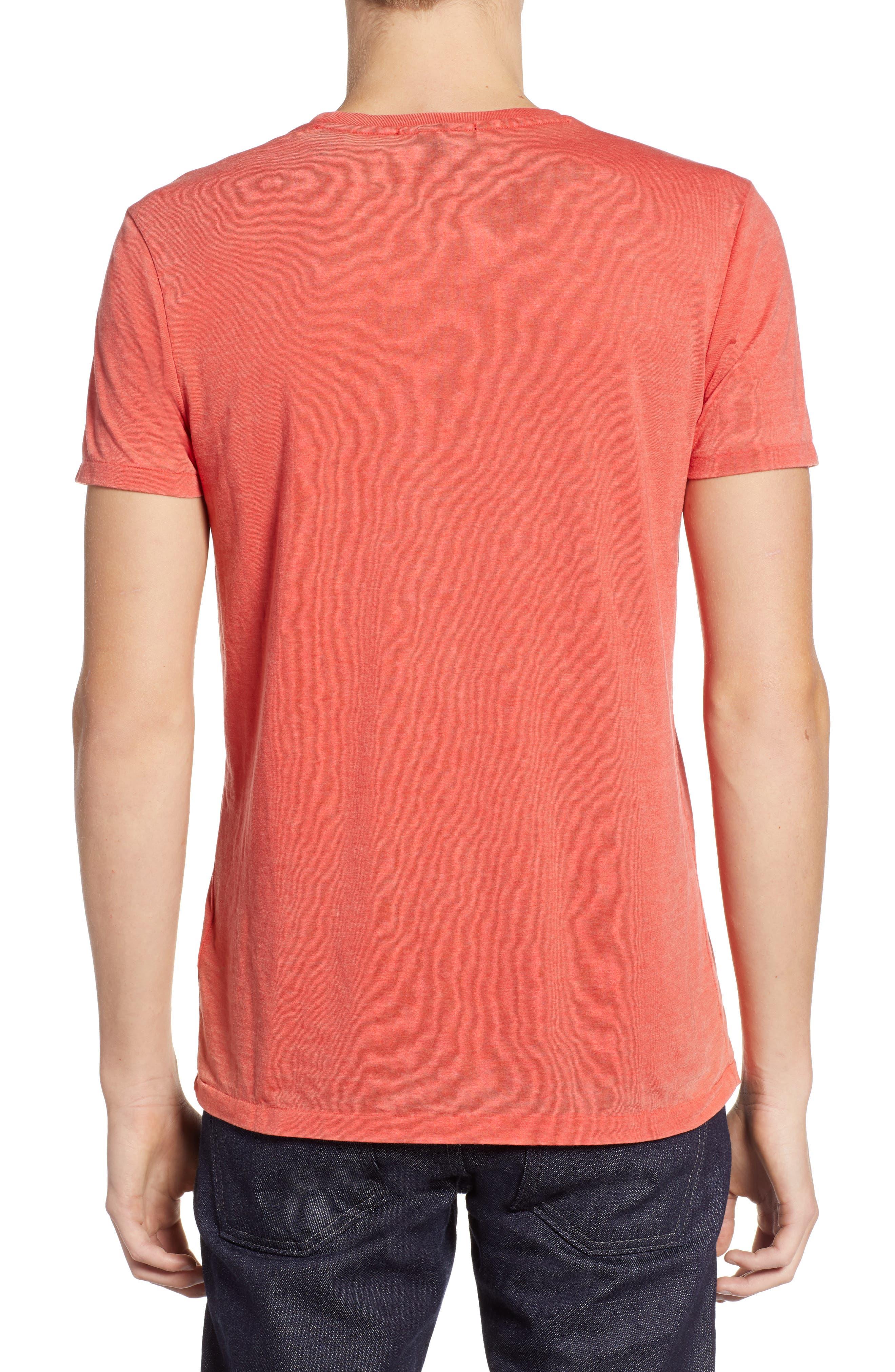 Burnout T-Shirt,                             Alternate thumbnail 2, color,                             RED MELANGE