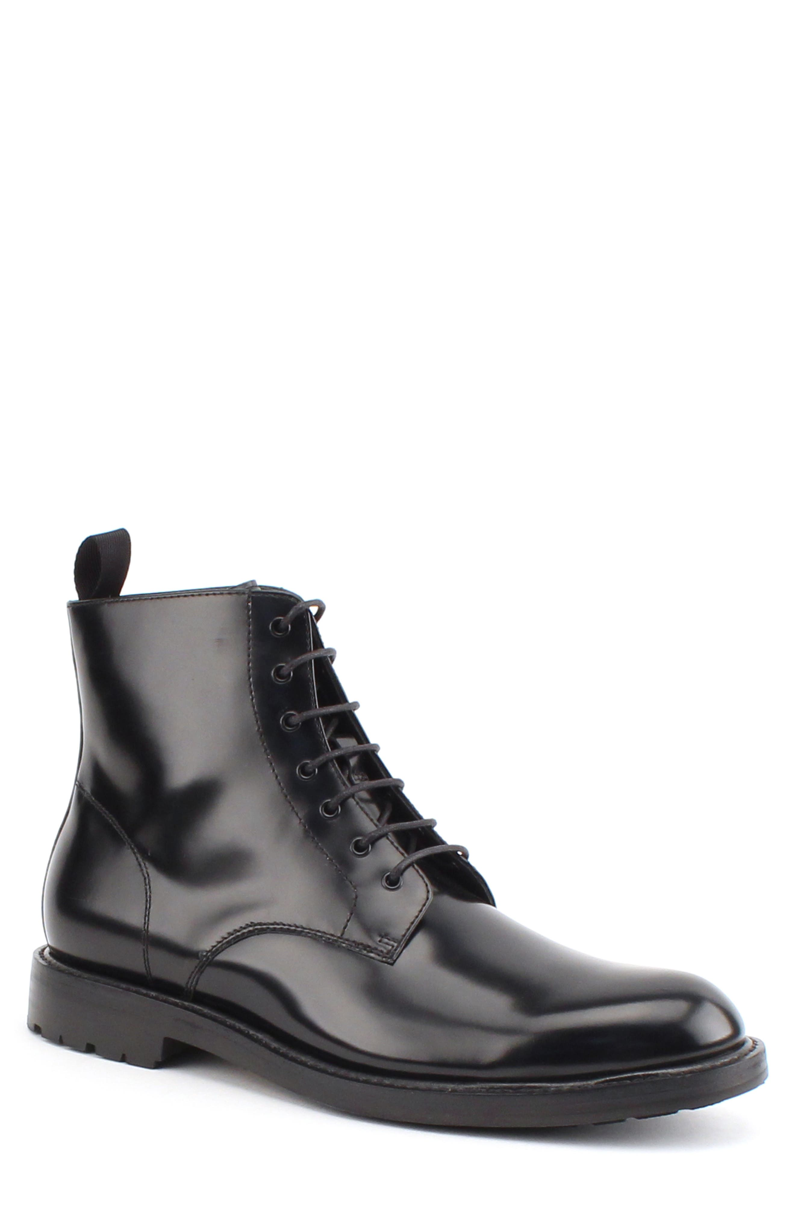 GORDON RUSH Men'S Raleigh Leather Boots in Black
