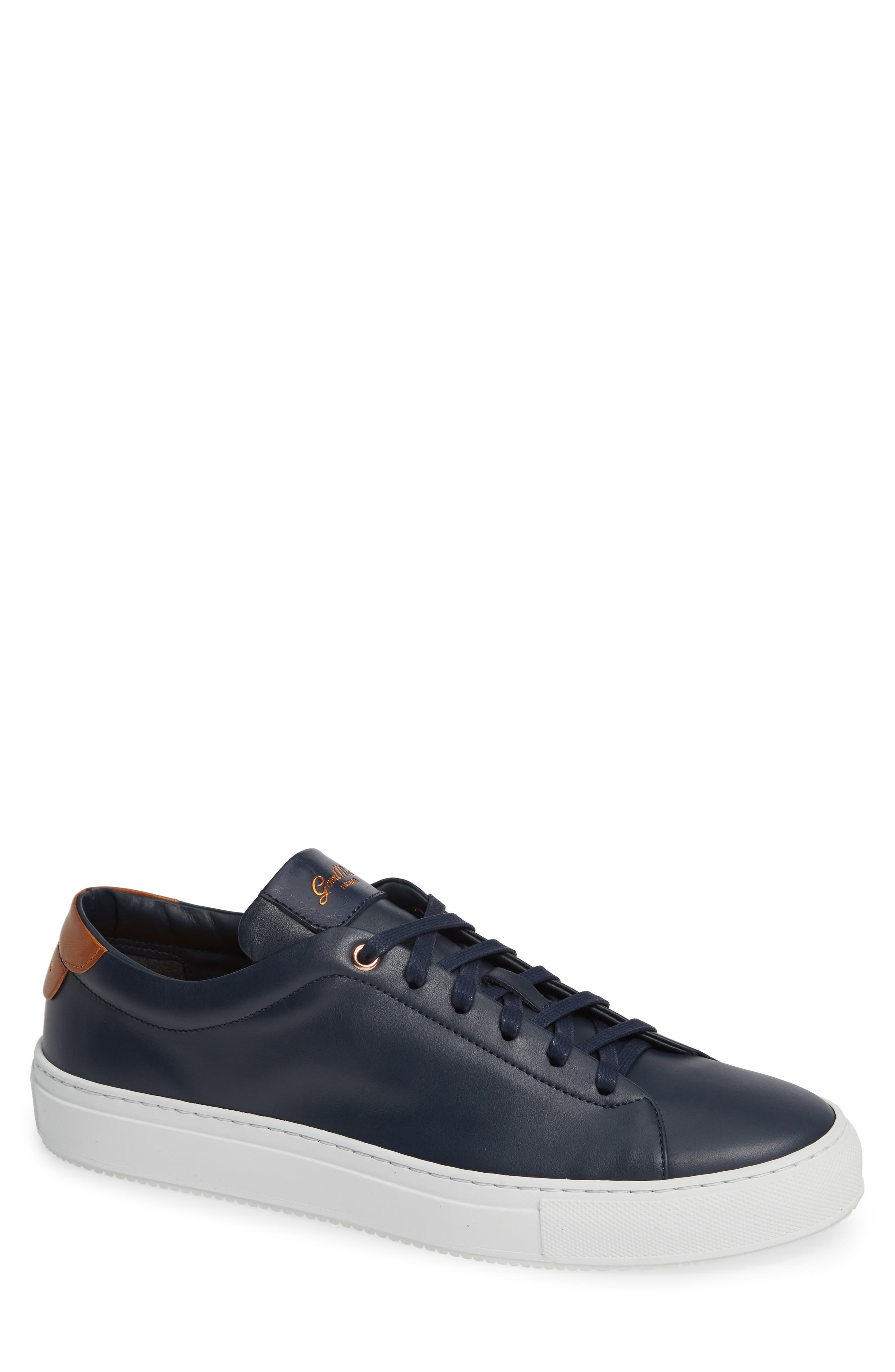 Edge Sneaker,                         Main,                         color, NAVY LEATHER