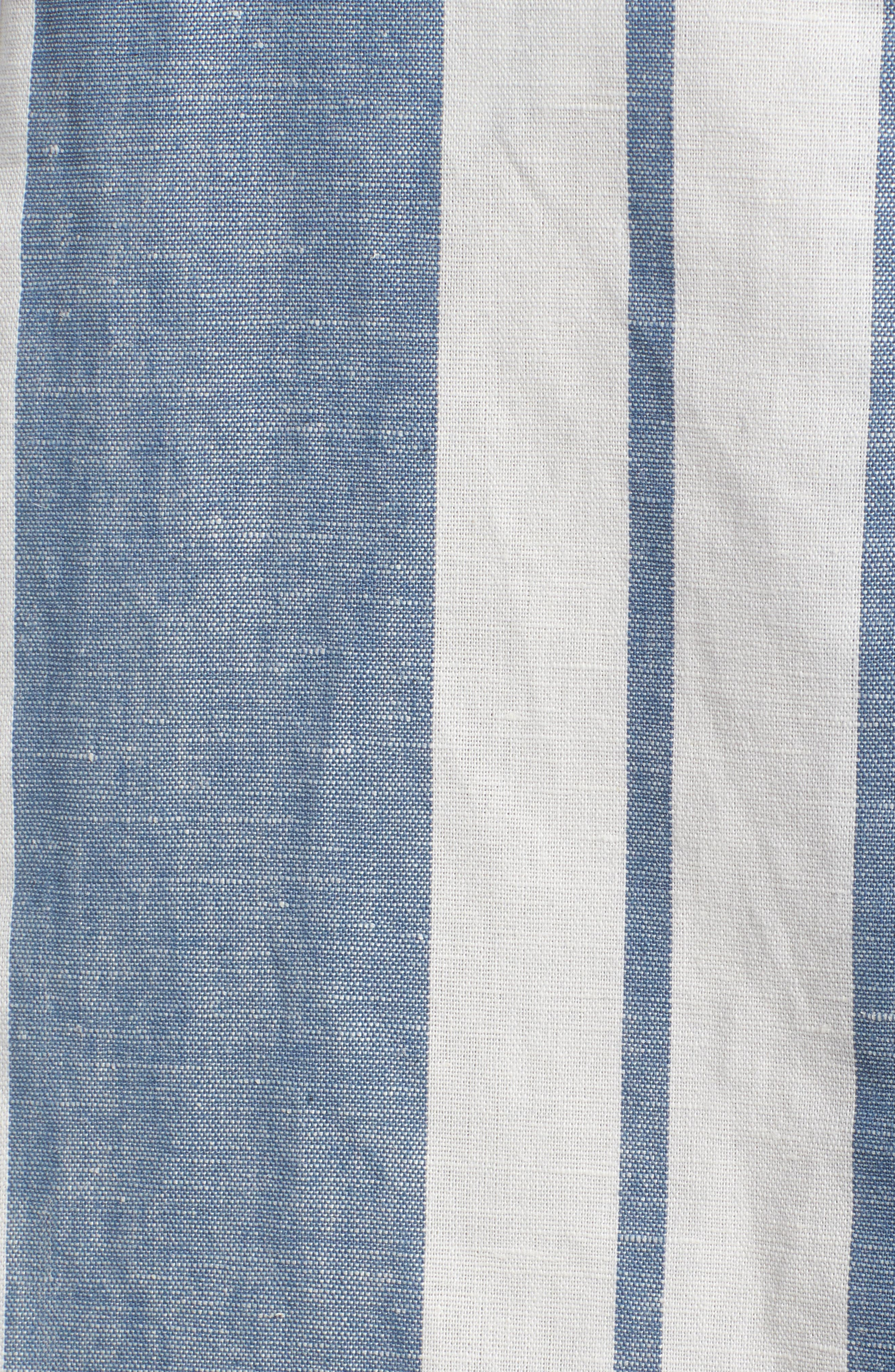 Stripe Midi Skirt,                             Alternate thumbnail 5, color,                             400