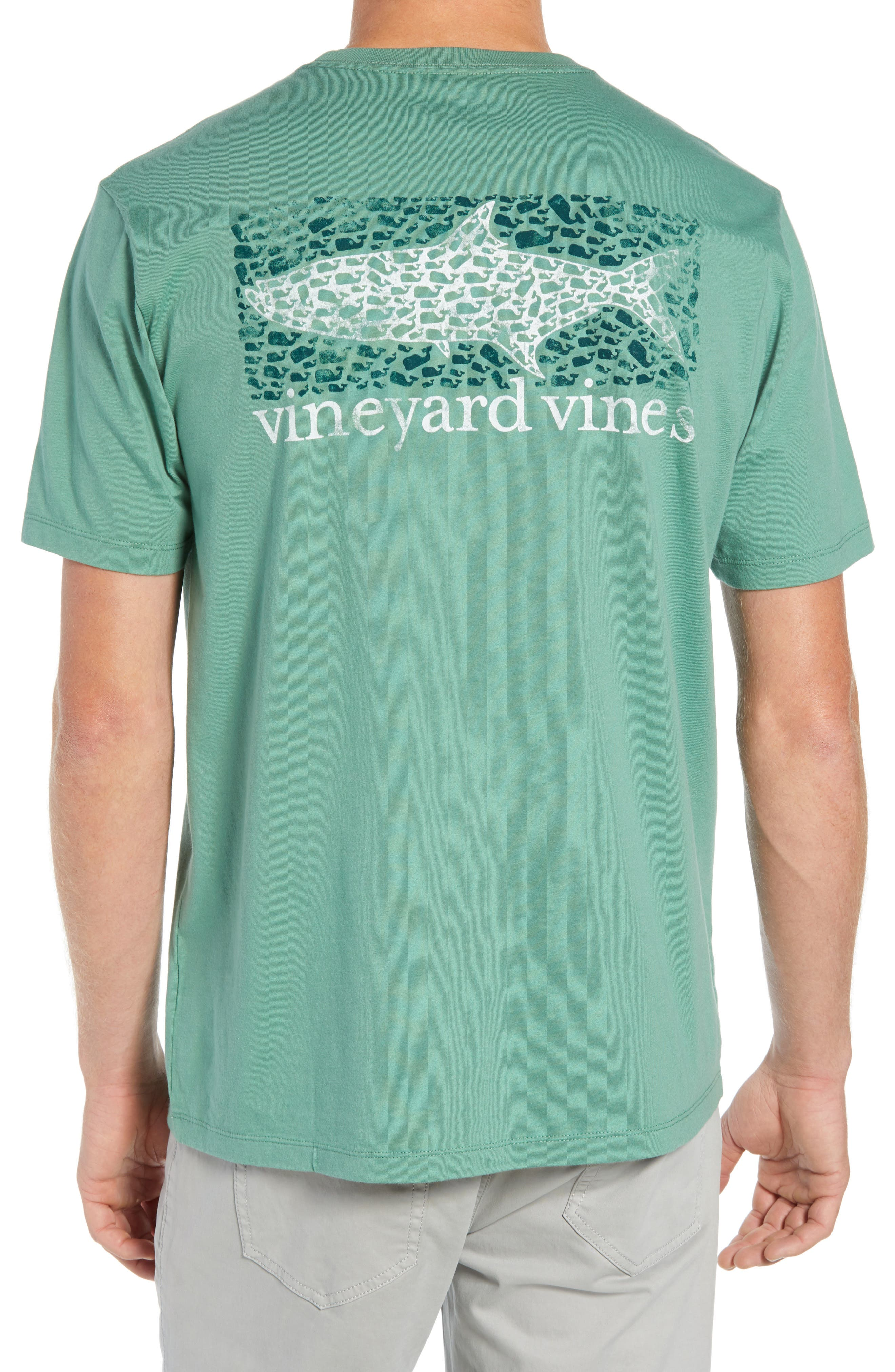 Fish Scale Pocket T-Shirt,                             Alternate thumbnail 4, color,                             STARBOARD GREEN