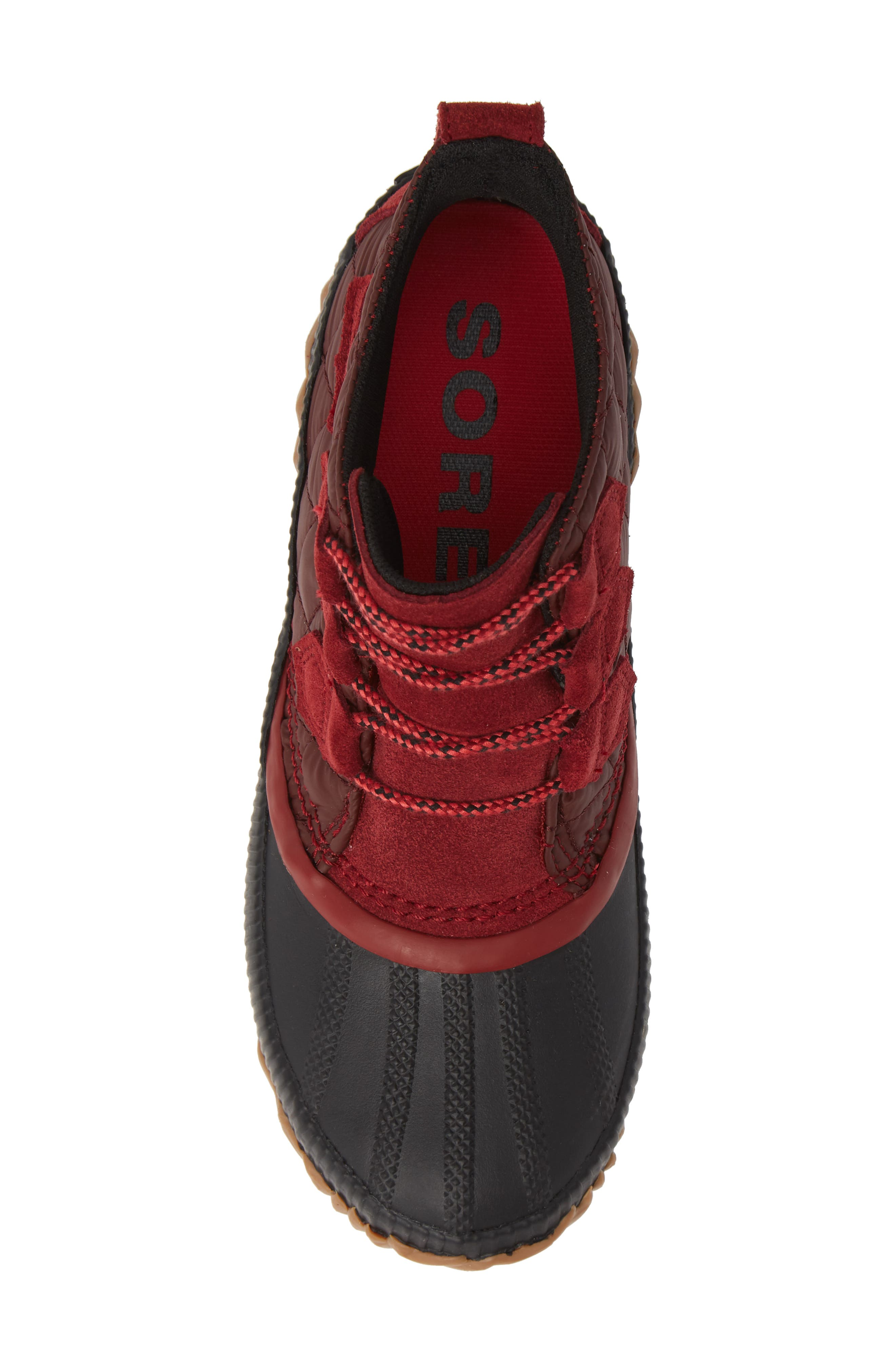 Out 'N' About Plus Camp Waterproof Bootie,                             Alternate thumbnail 5, color,                             CAMP/ RED ELEMENT