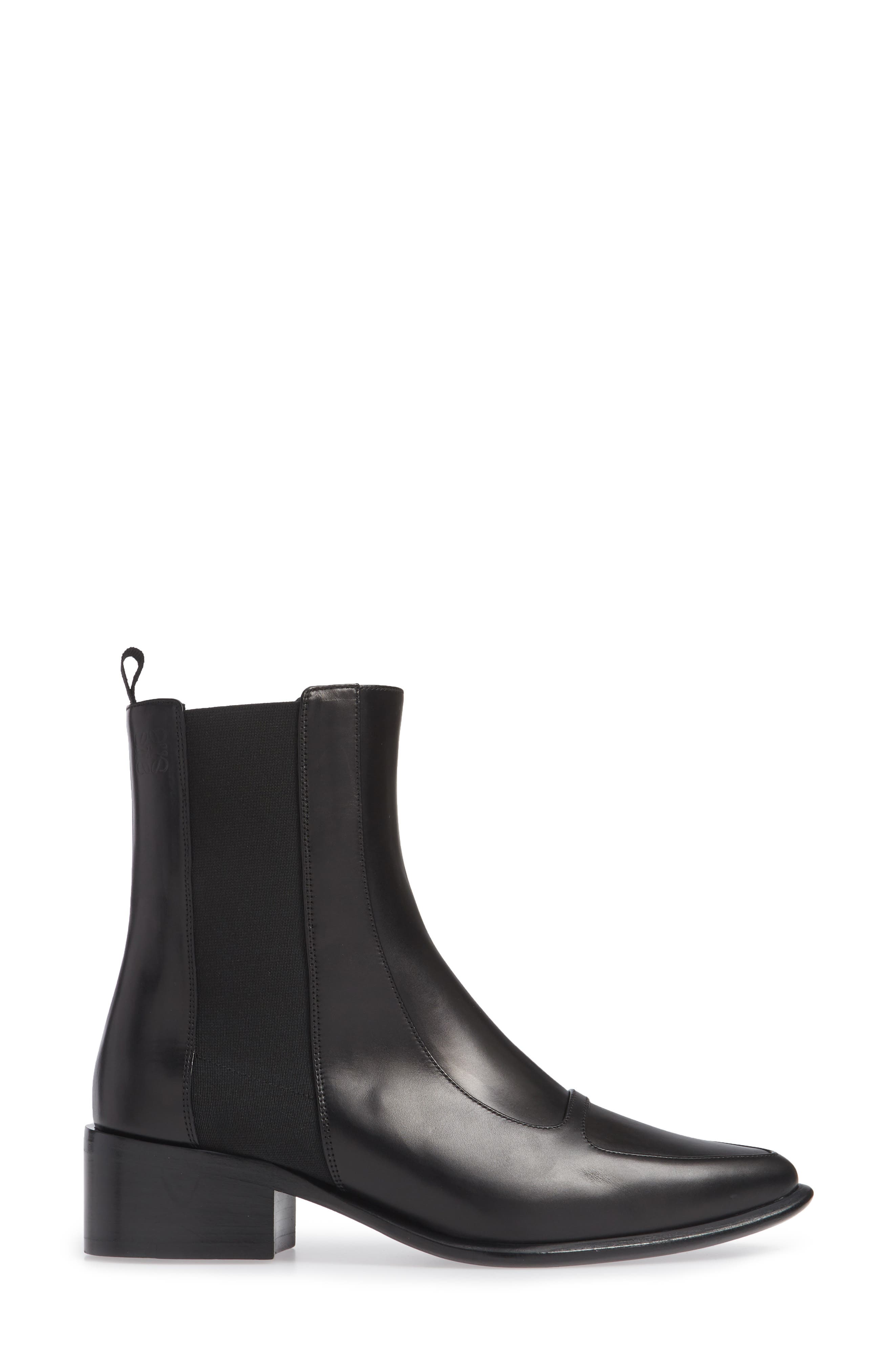 Chelsea Boot,                             Alternate thumbnail 3, color,                             BLACK