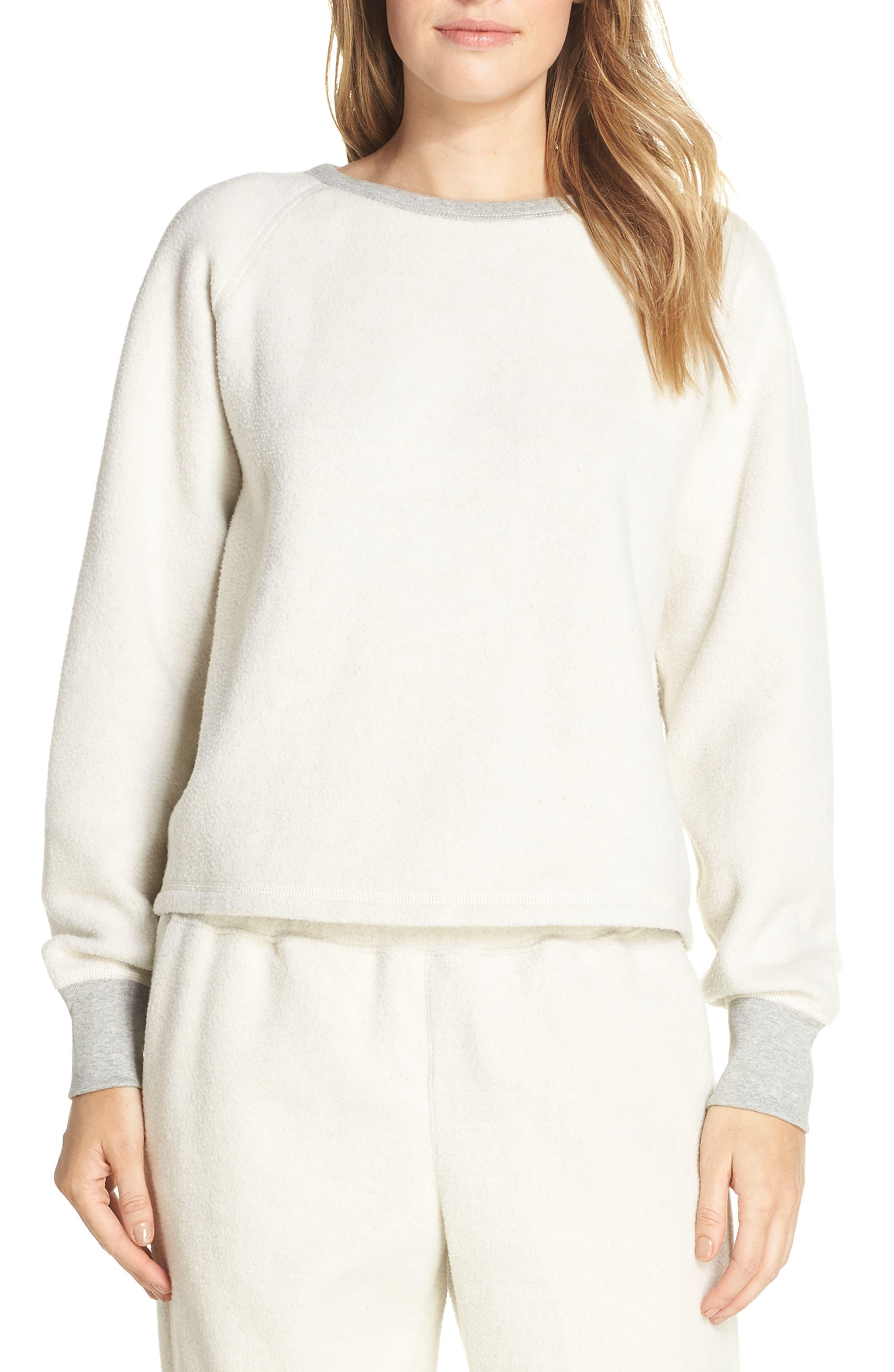 Madewell Fleece Pajama Sweatshirt, Grey