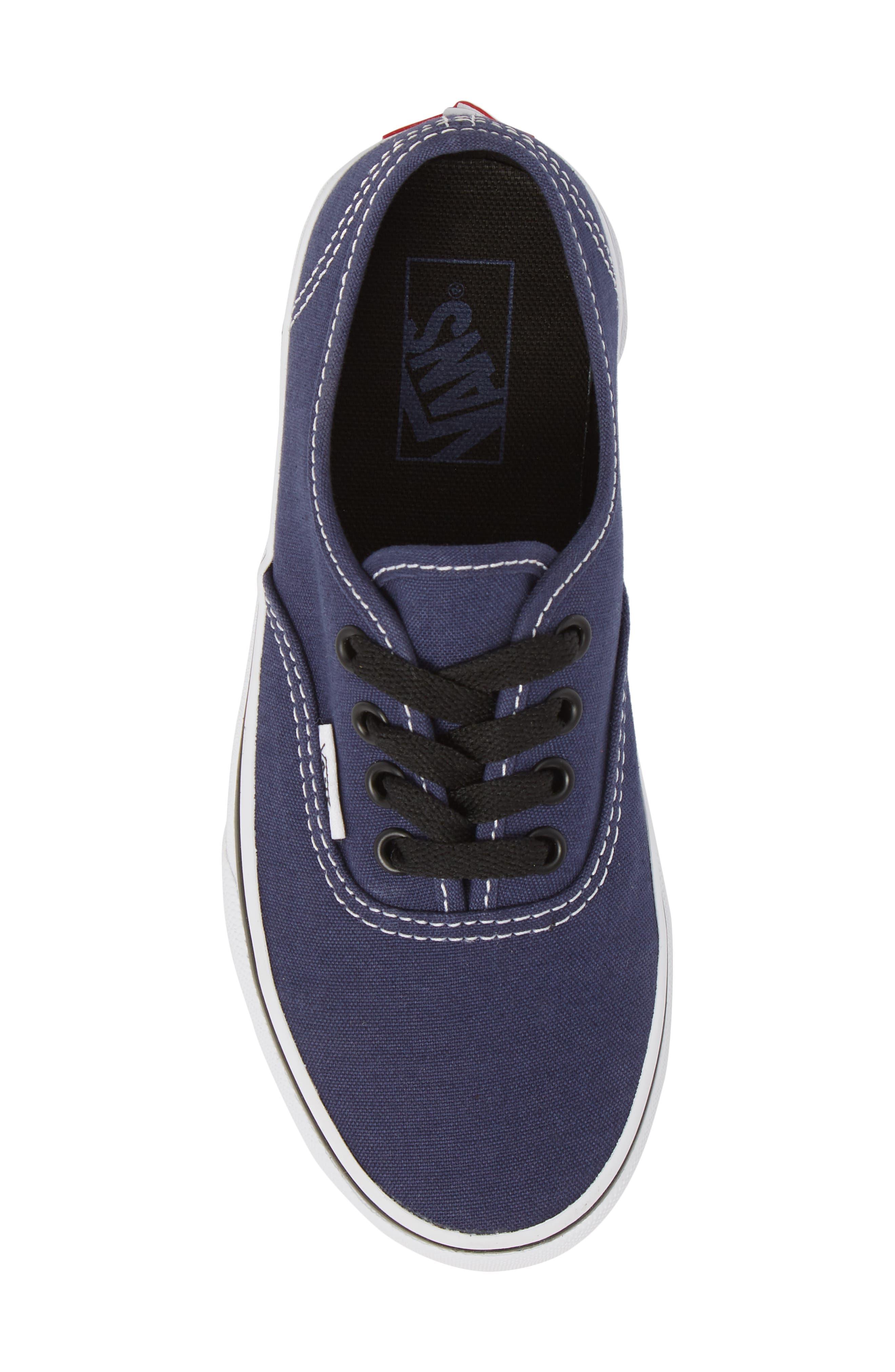 Authentic Sneaker,                             Alternate thumbnail 5, color,                             MEDIEVAL BLUE/ BLACK