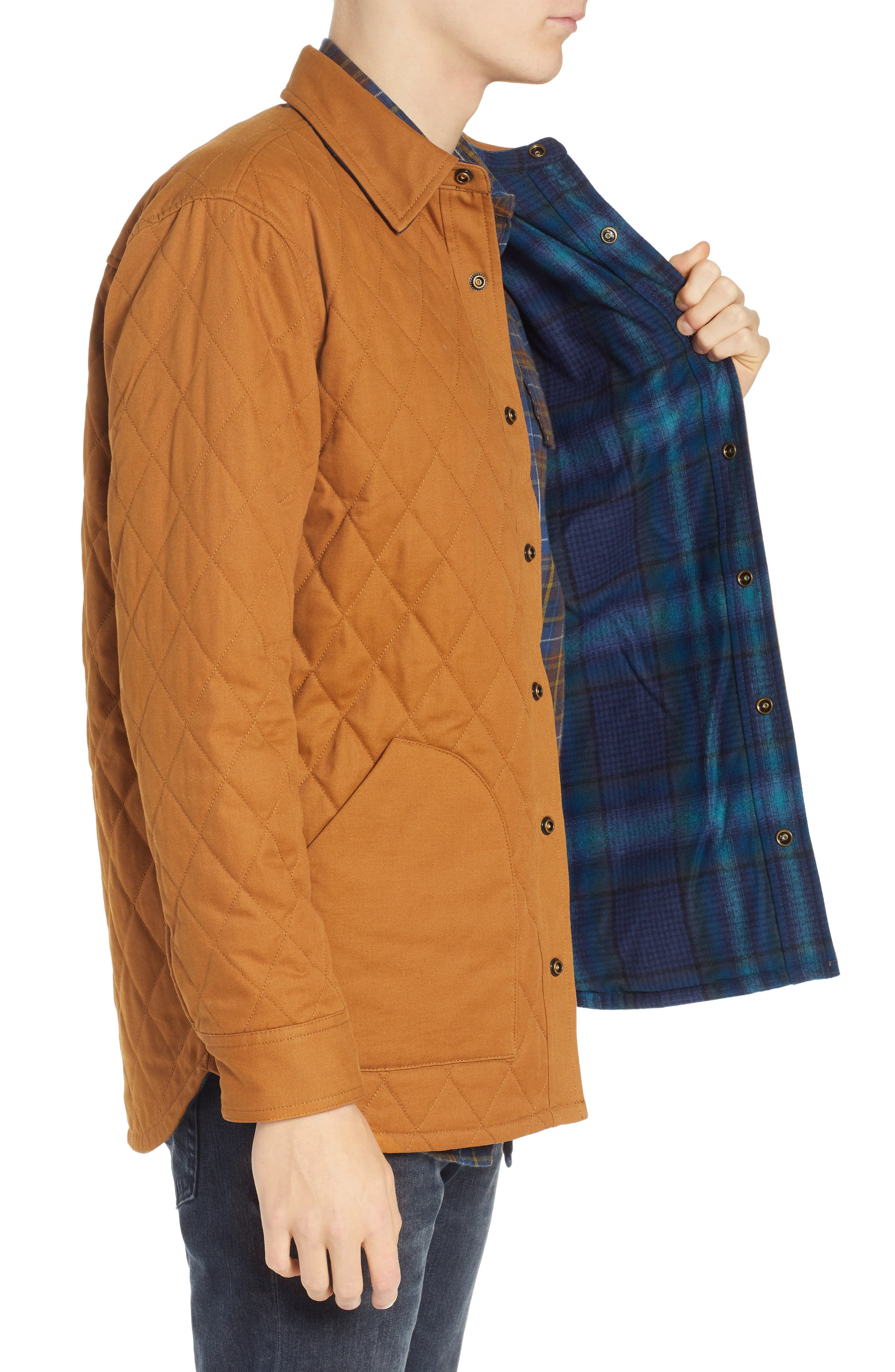 Reversible Quilted Canvas Jacket,                             Alternate thumbnail 4, color,                             212