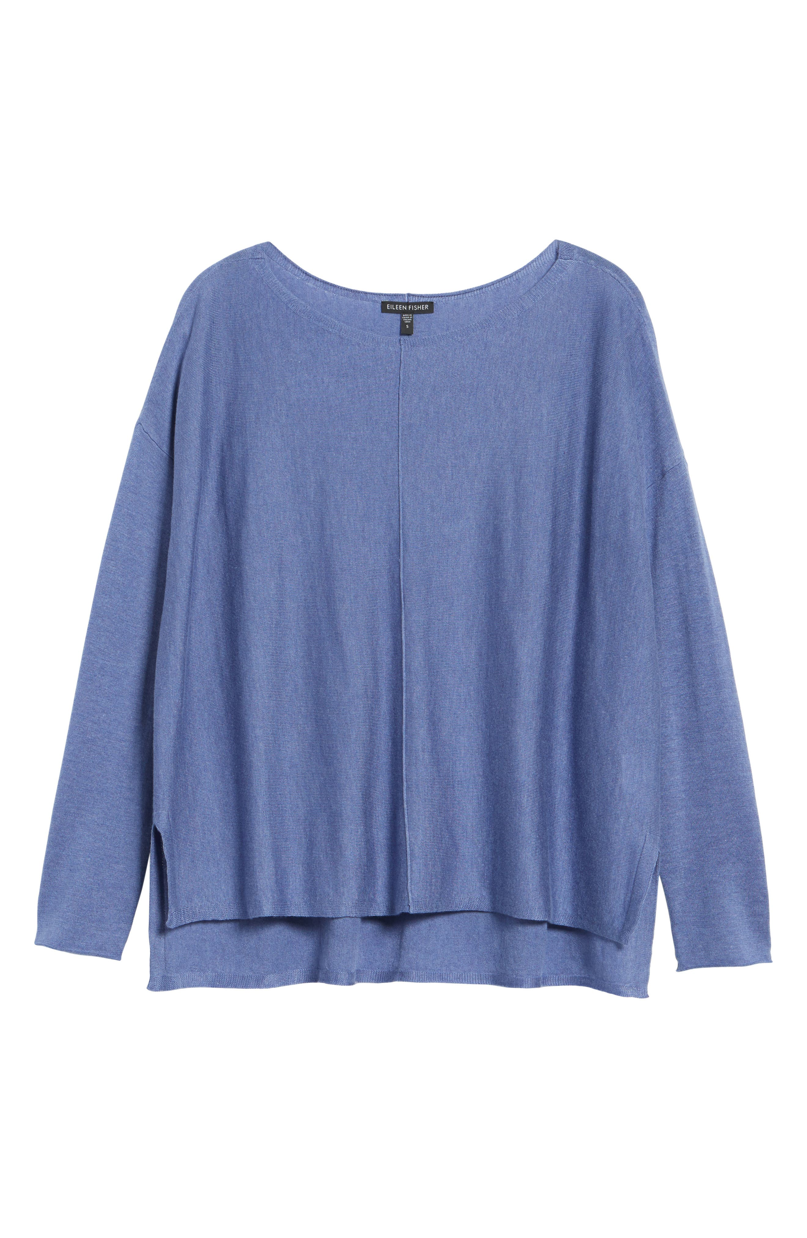 Tencel<sup>®</sup> Lyocell Blend High/Low Sweater,                             Alternate thumbnail 33, color,