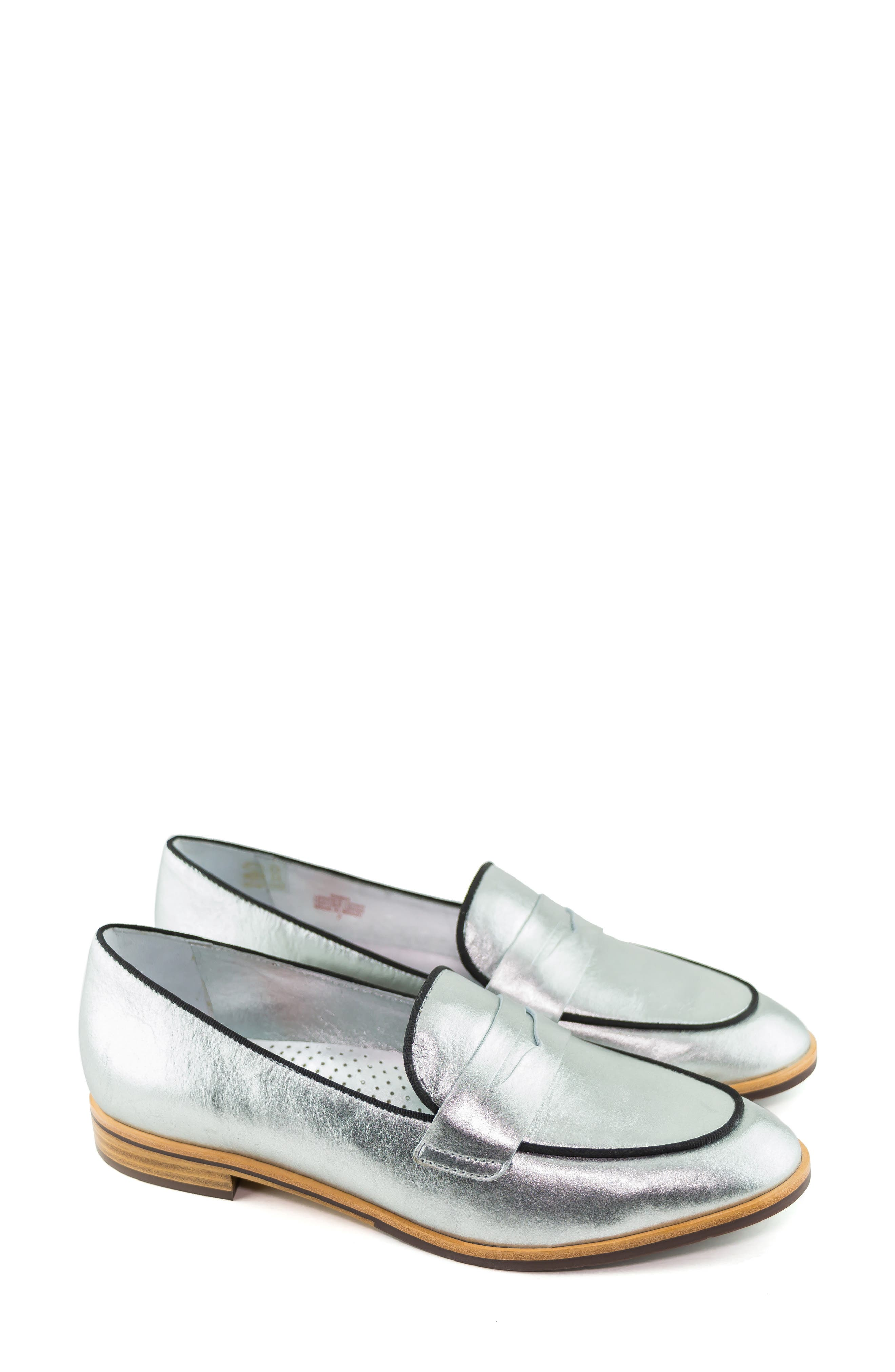 Bryant Park Loafer,                             Alternate thumbnail 7, color,                             GIPSY SILVER LEATHER