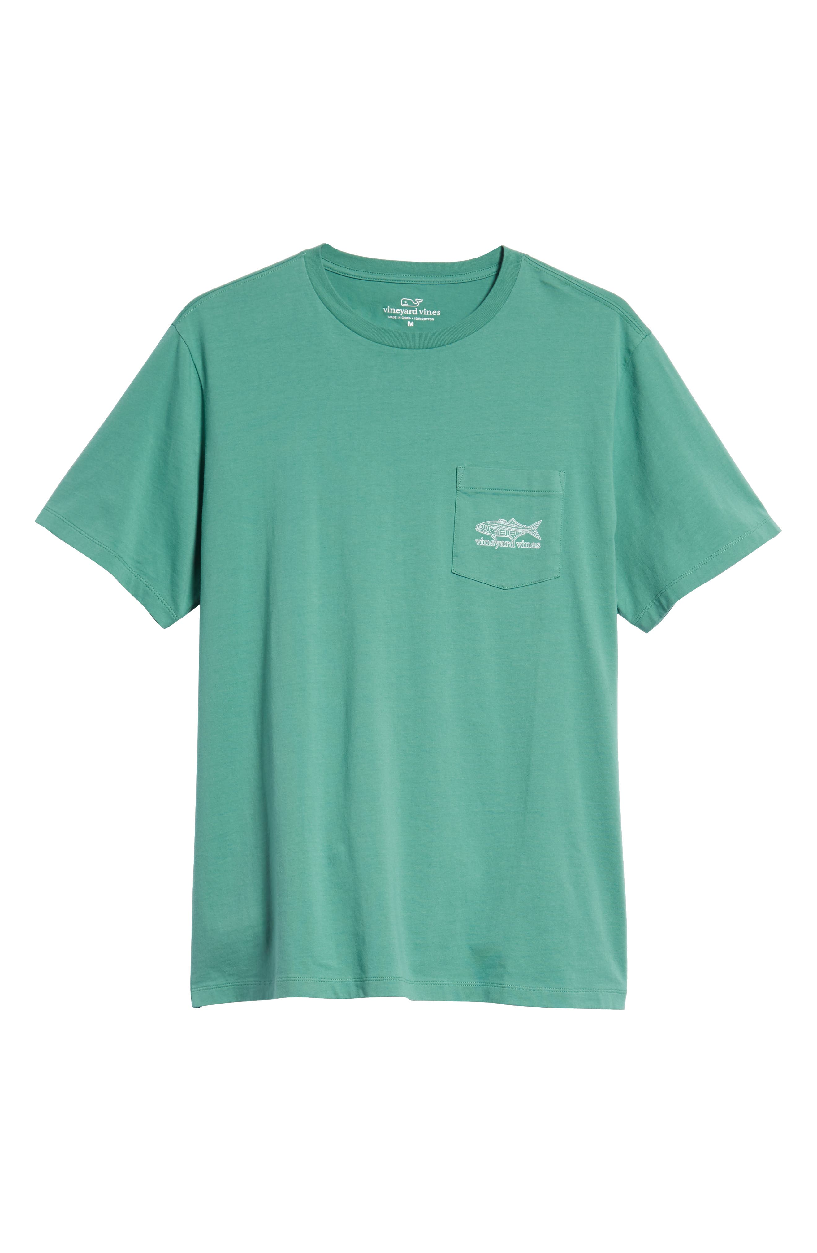 Linear Bluefish Pocket T-Shirt,                             Alternate thumbnail 6, color,                             324