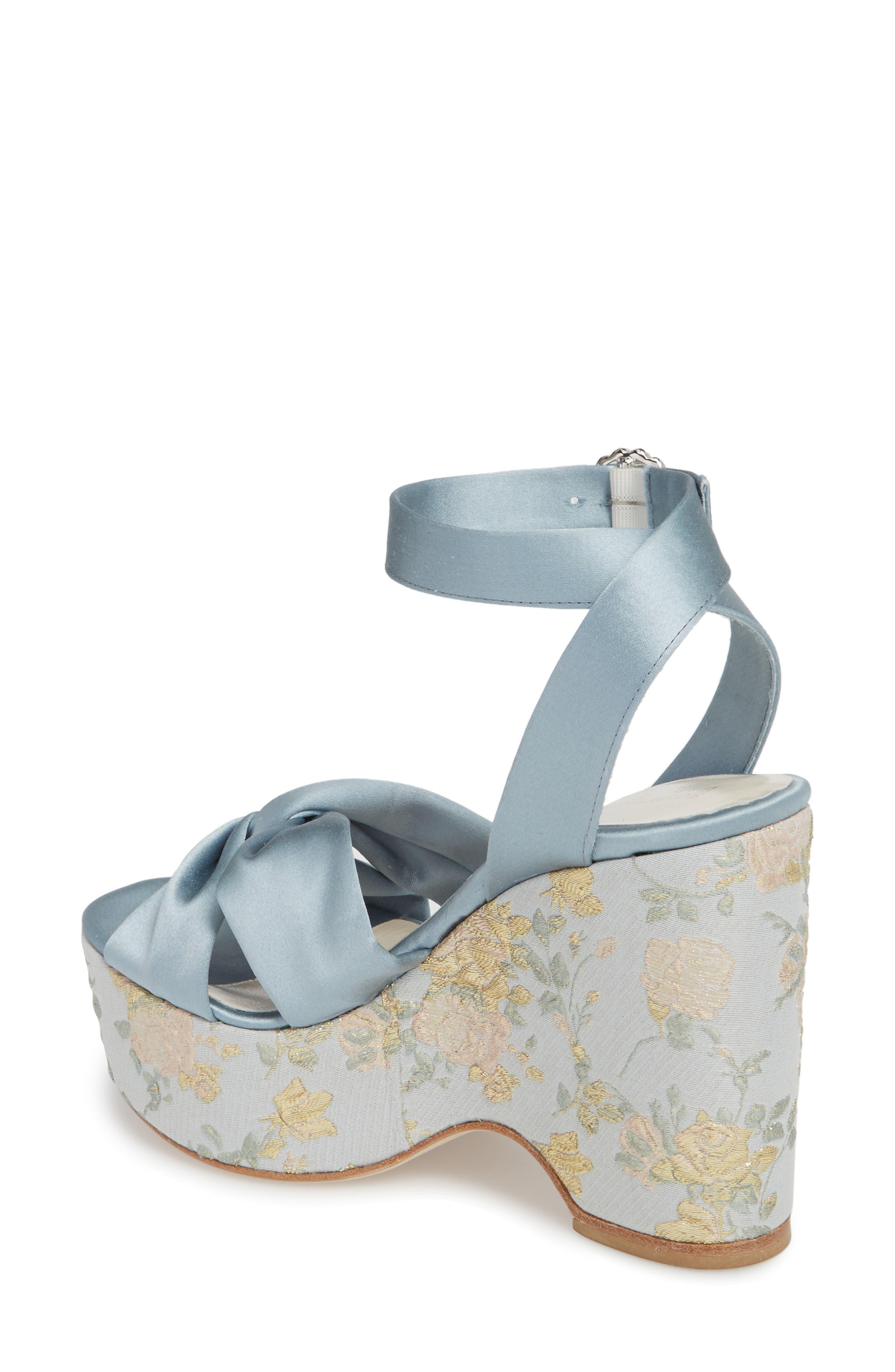 Serena Brocade Platform Sandal,                             Alternate thumbnail 6, color,