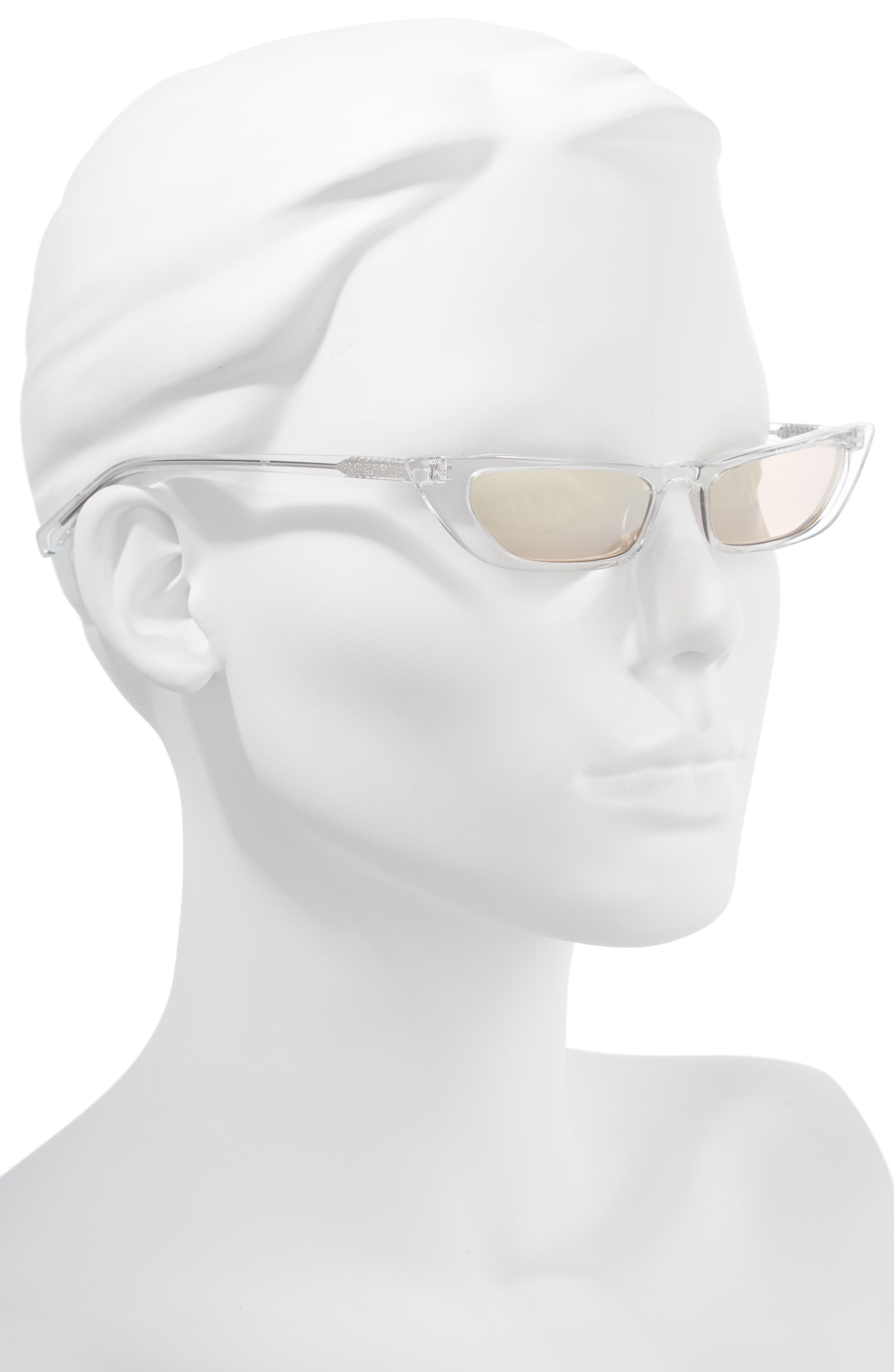 KENDALL + KYLIE,                             Vivian Extreme 51mm Cat Eye Sunglasses,                             Alternate thumbnail 2, color,                             106