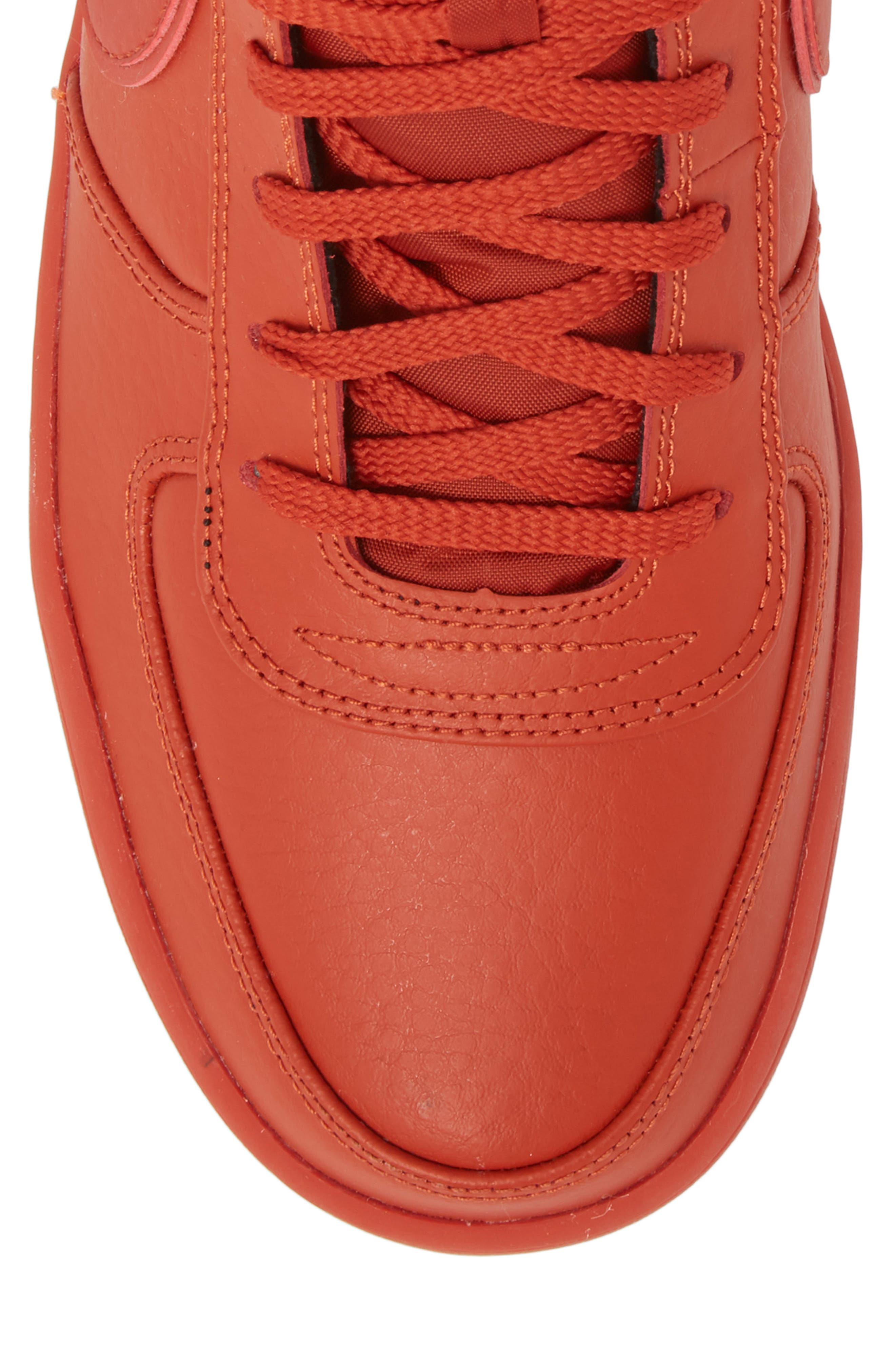 Vandal High Supreme Leather Sneaker,                             Alternate thumbnail 5, color,                             DRAGON RED