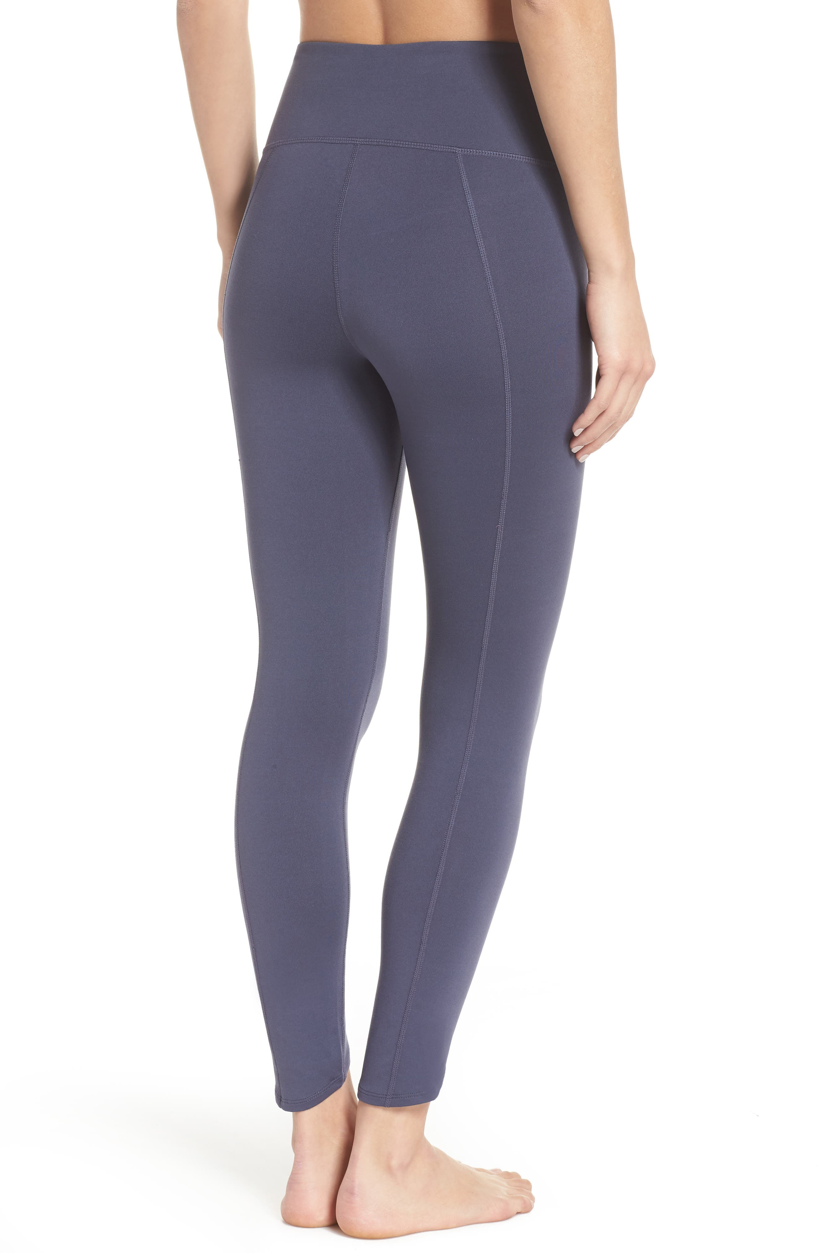 Refocus Recycled High Waist Midi Leggings,                             Alternate thumbnail 2, color,                             021