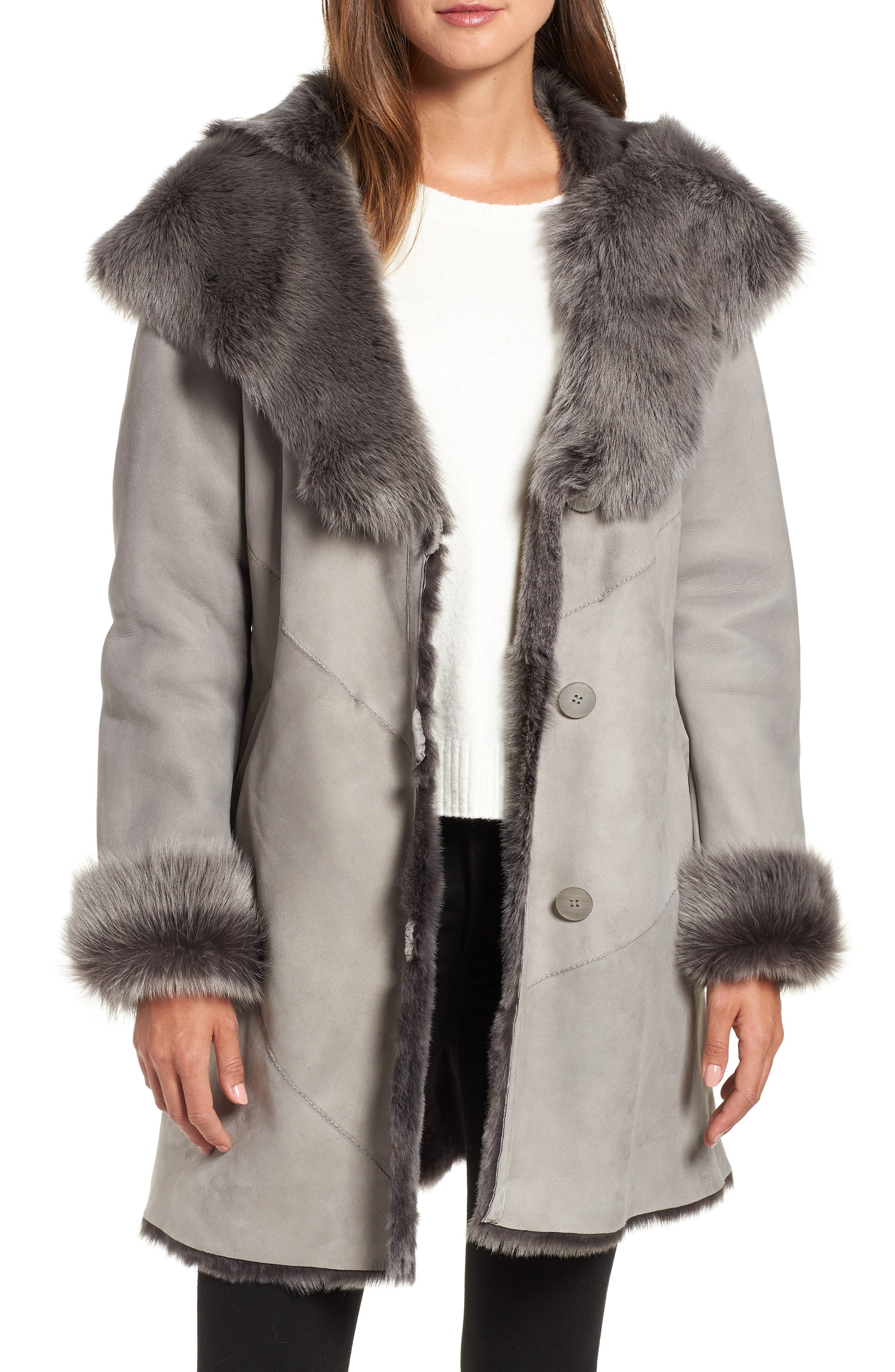 Hiso Genuine Toscana Shearling Jacket, Grey