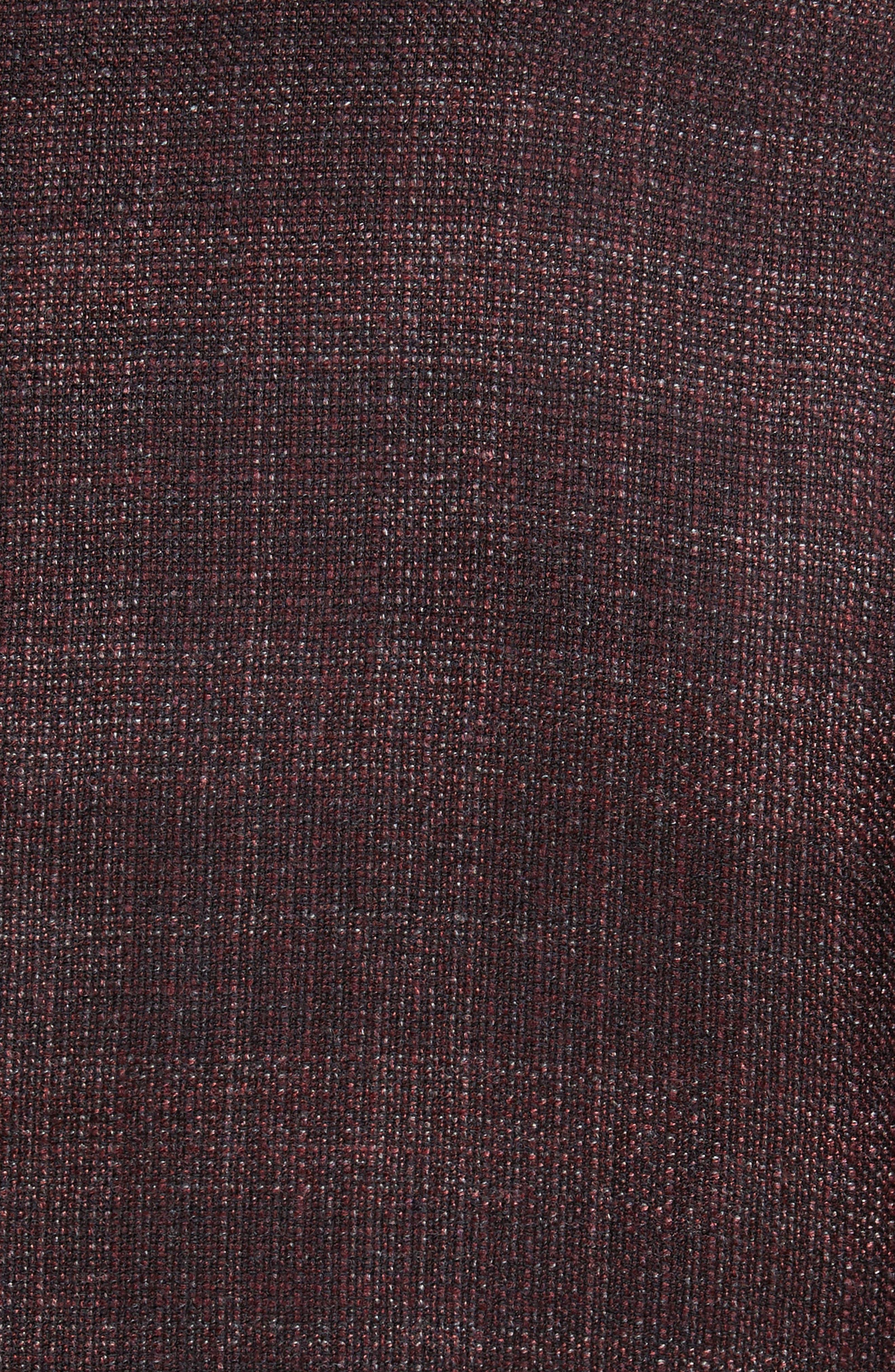 T-Heel Trim Fit Plaid Wool & Silk Sport Coat,                             Alternate thumbnail 6, color,                             606
