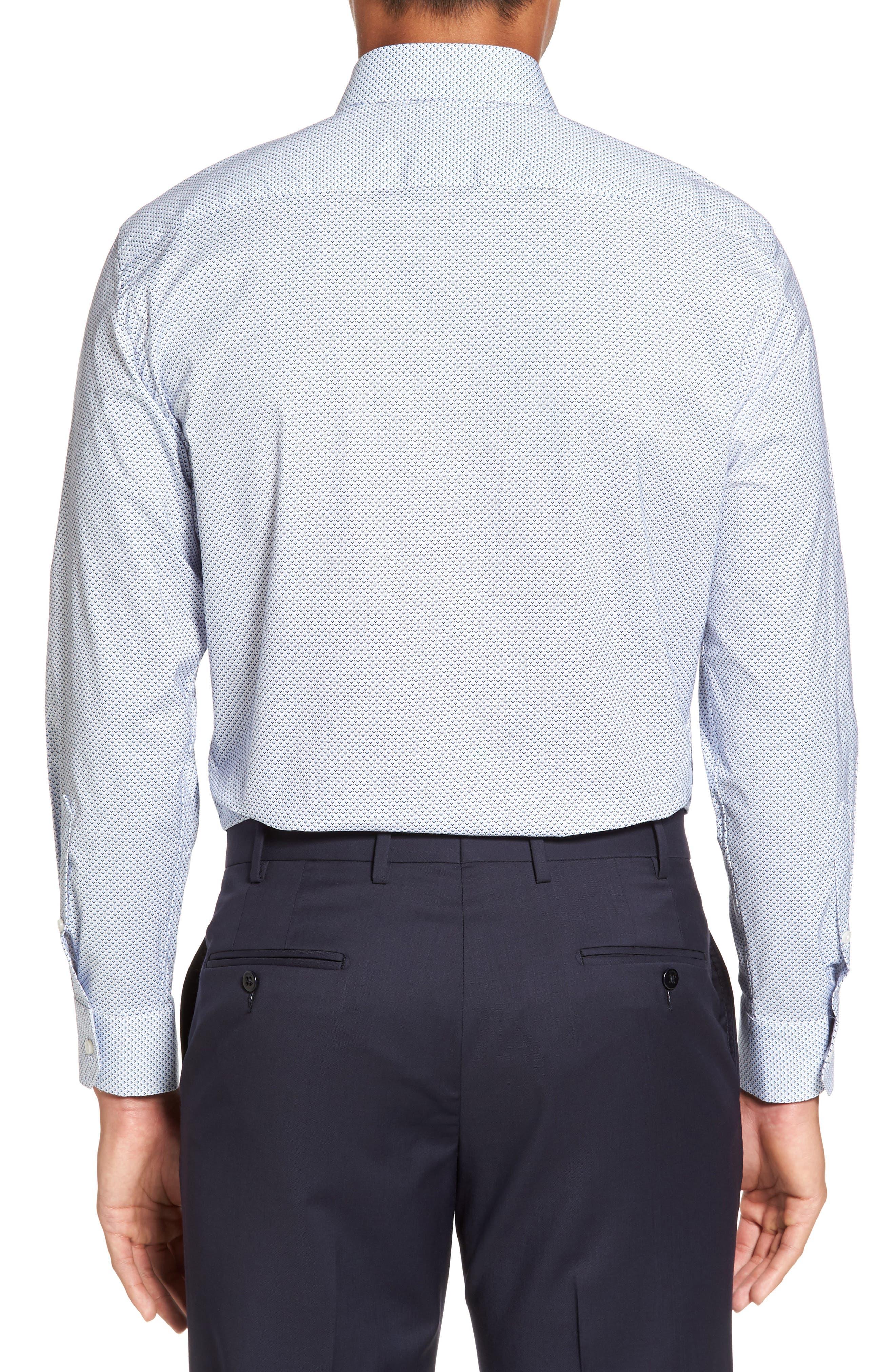 CALIBRATE,                             Trim Fit Stretch Geometric Dress Shirt,                             Alternate thumbnail 2, color,                             420