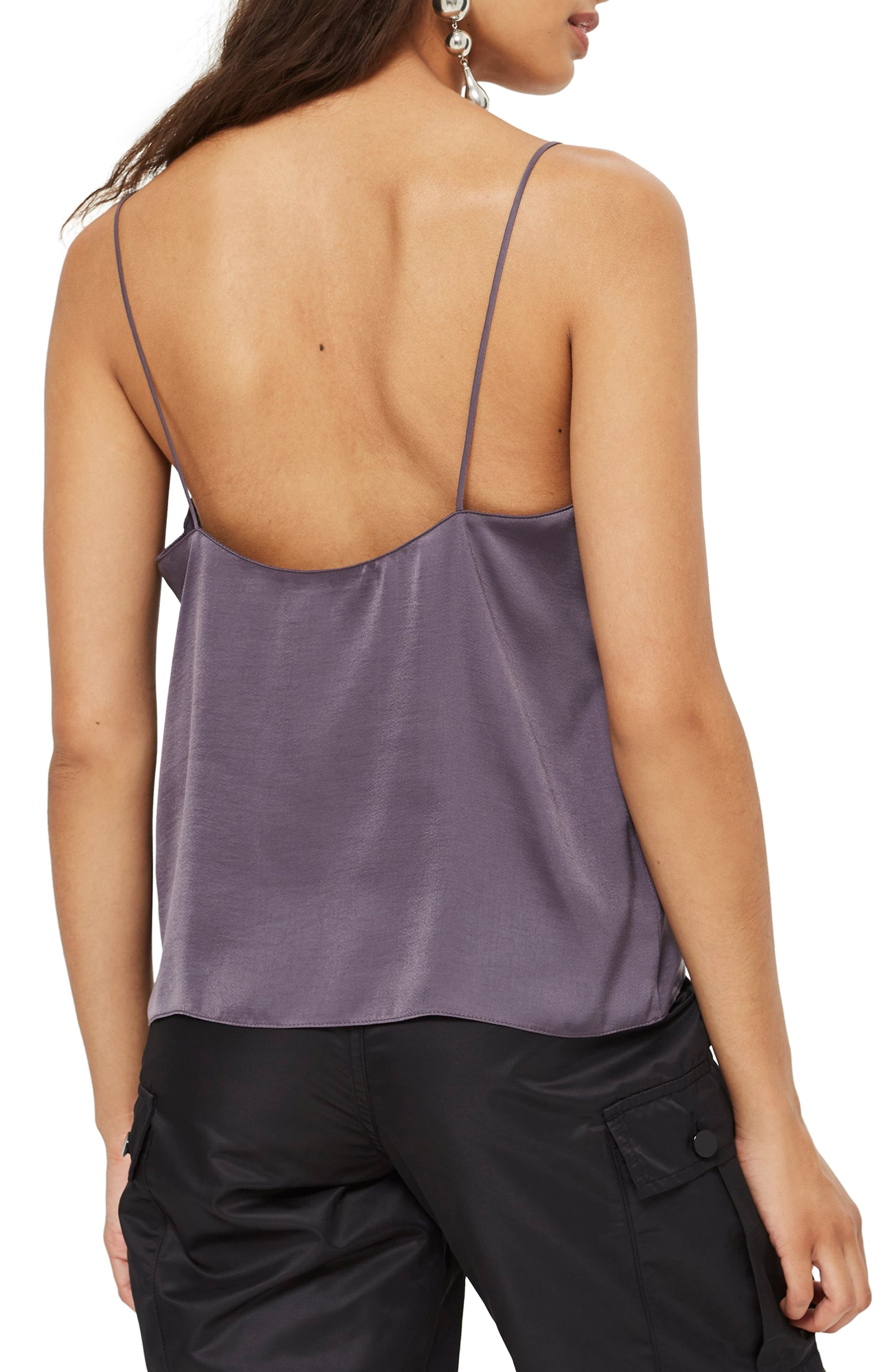 Scallop Camisole,                             Alternate thumbnail 2, color,                             GUNMETAL