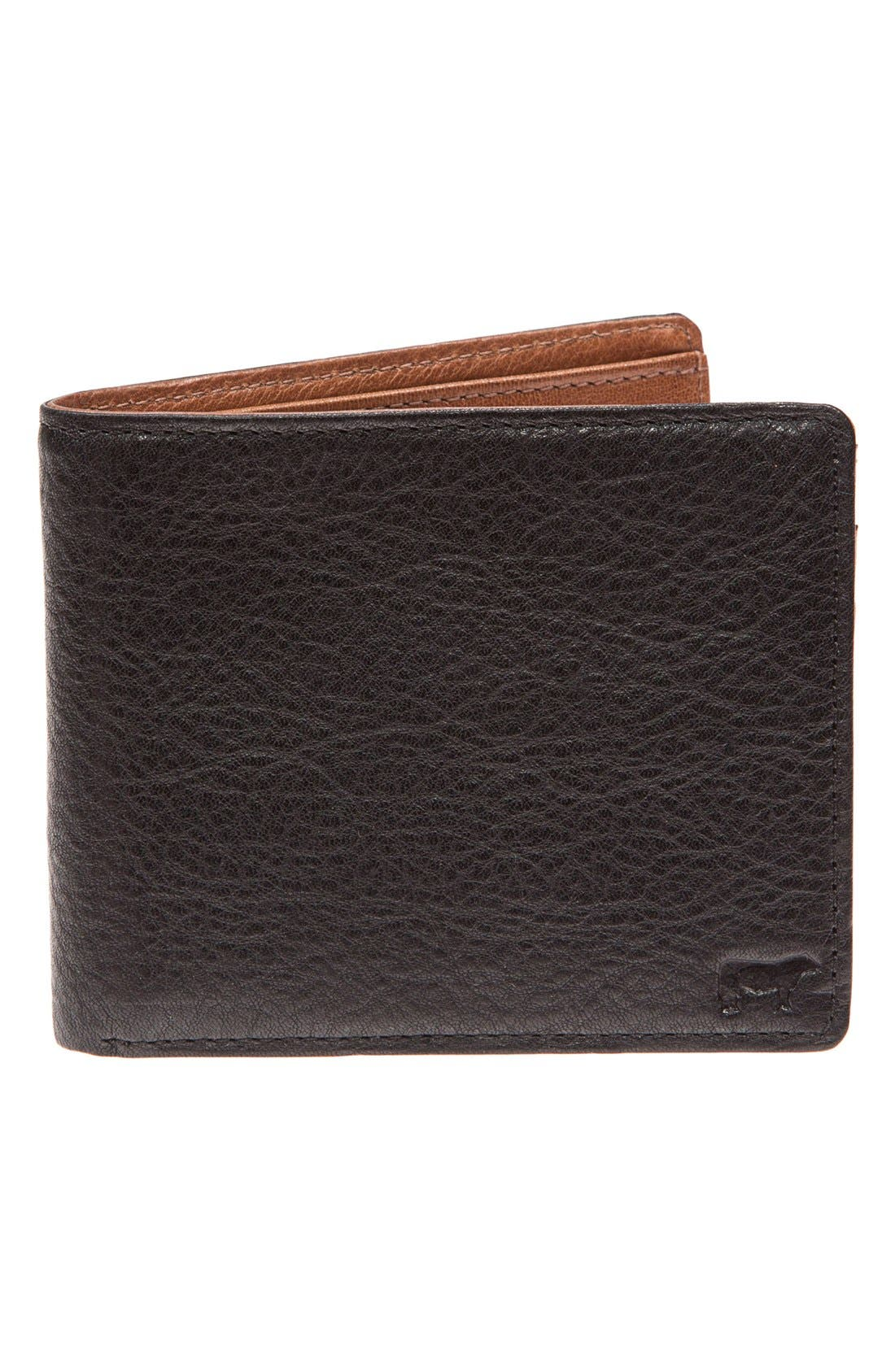 WILL LEATHER GOODS 'Barnard' Wallet, Main, color, 001