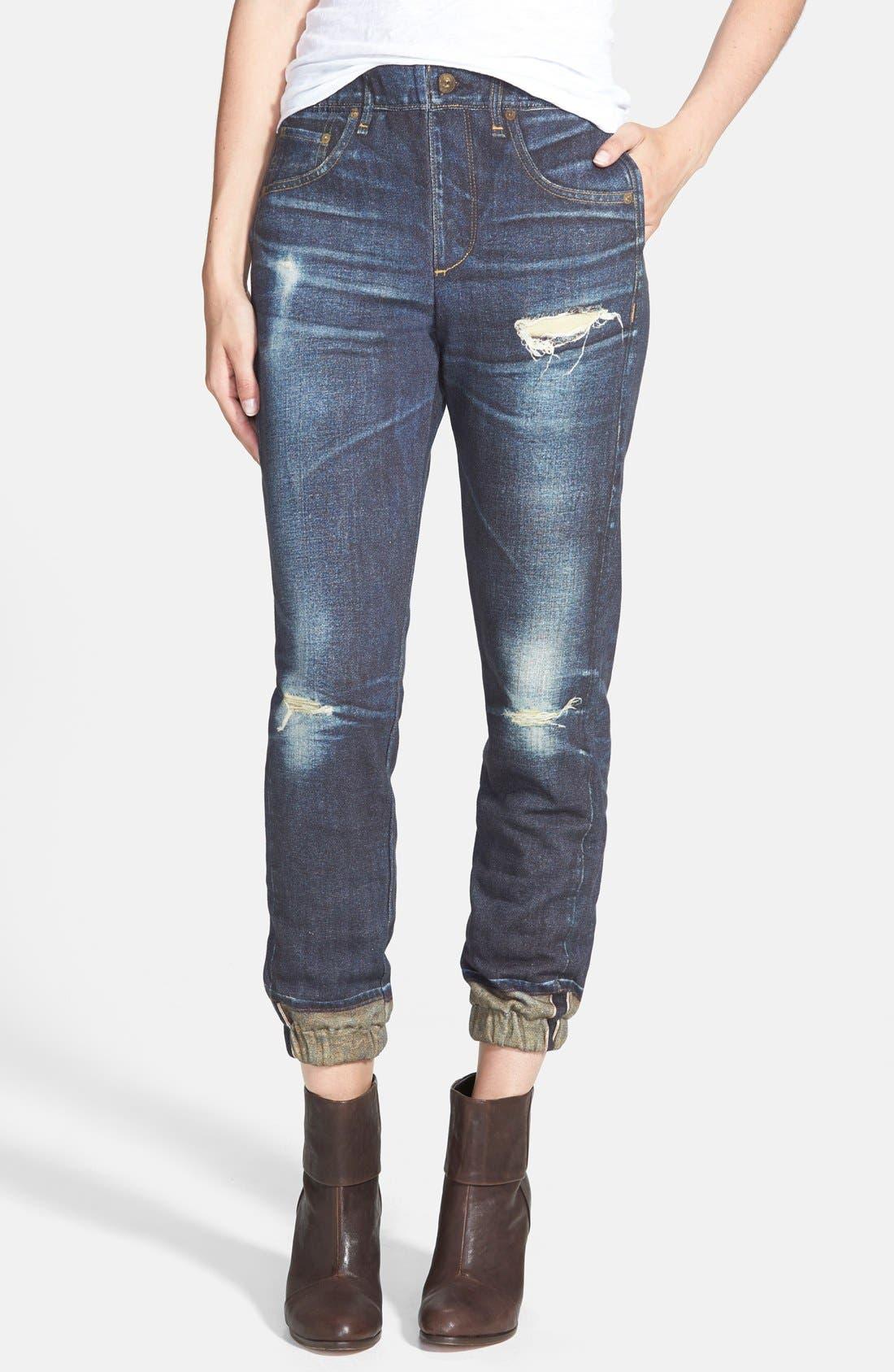 JEAN 'Pajama Jean' Print Sweatpants,                             Main thumbnail 1, color,                             404