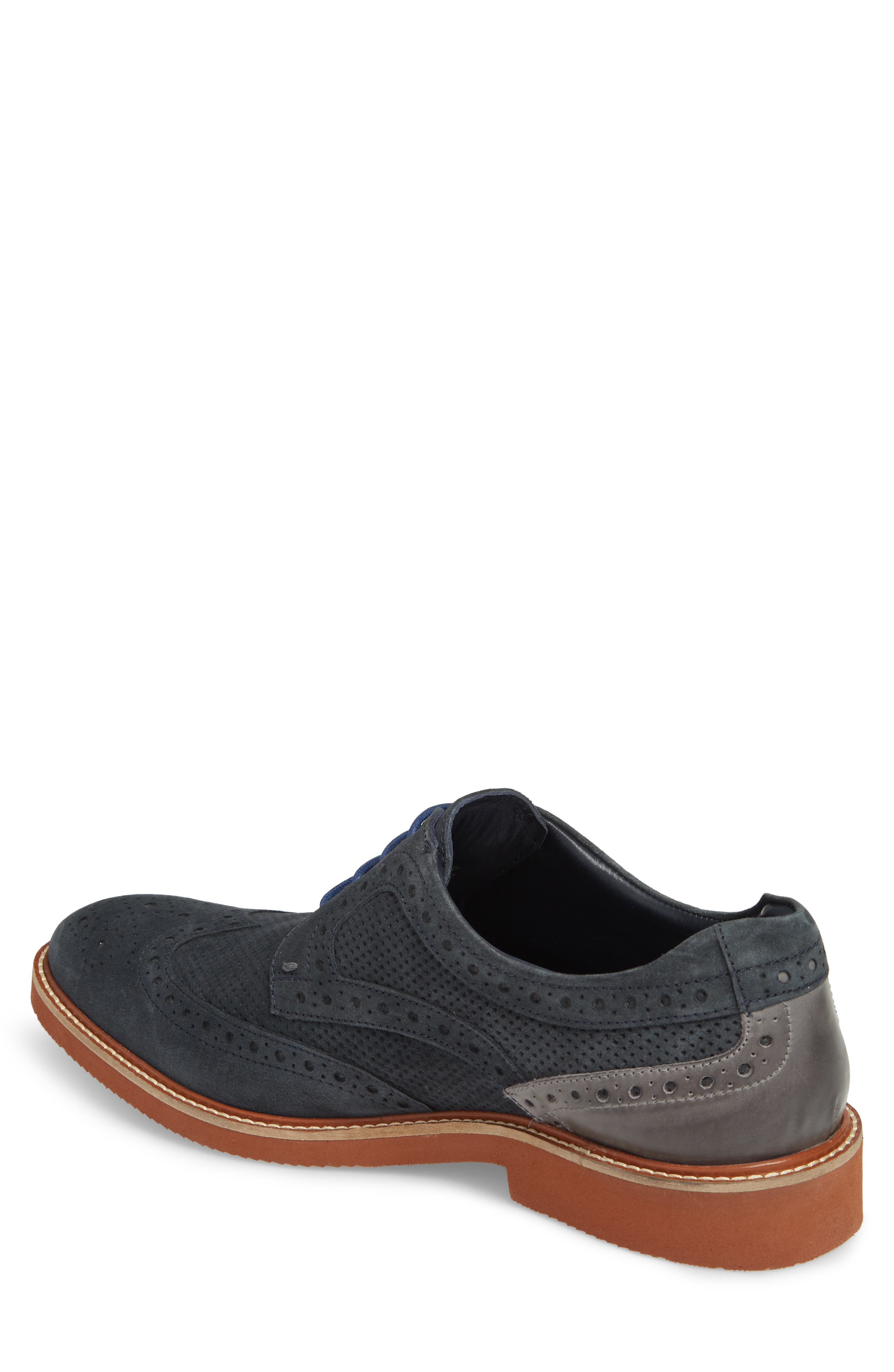 Shaw Perforated Wingtip Derby,                             Alternate thumbnail 4, color,