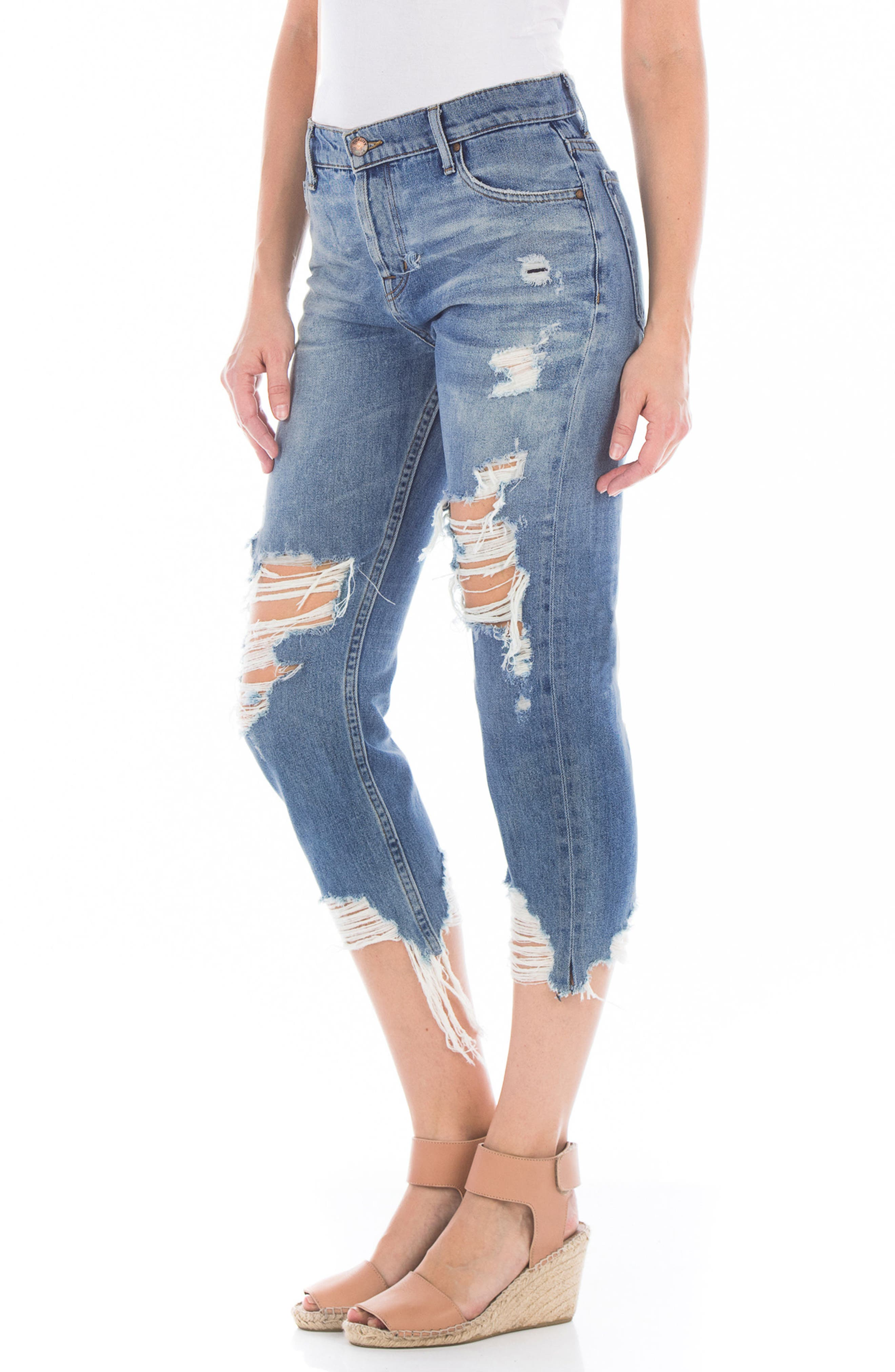 Dee Dee Ripped Crop Jeans,                             Alternate thumbnail 3, color,                             RIP N REPAIR