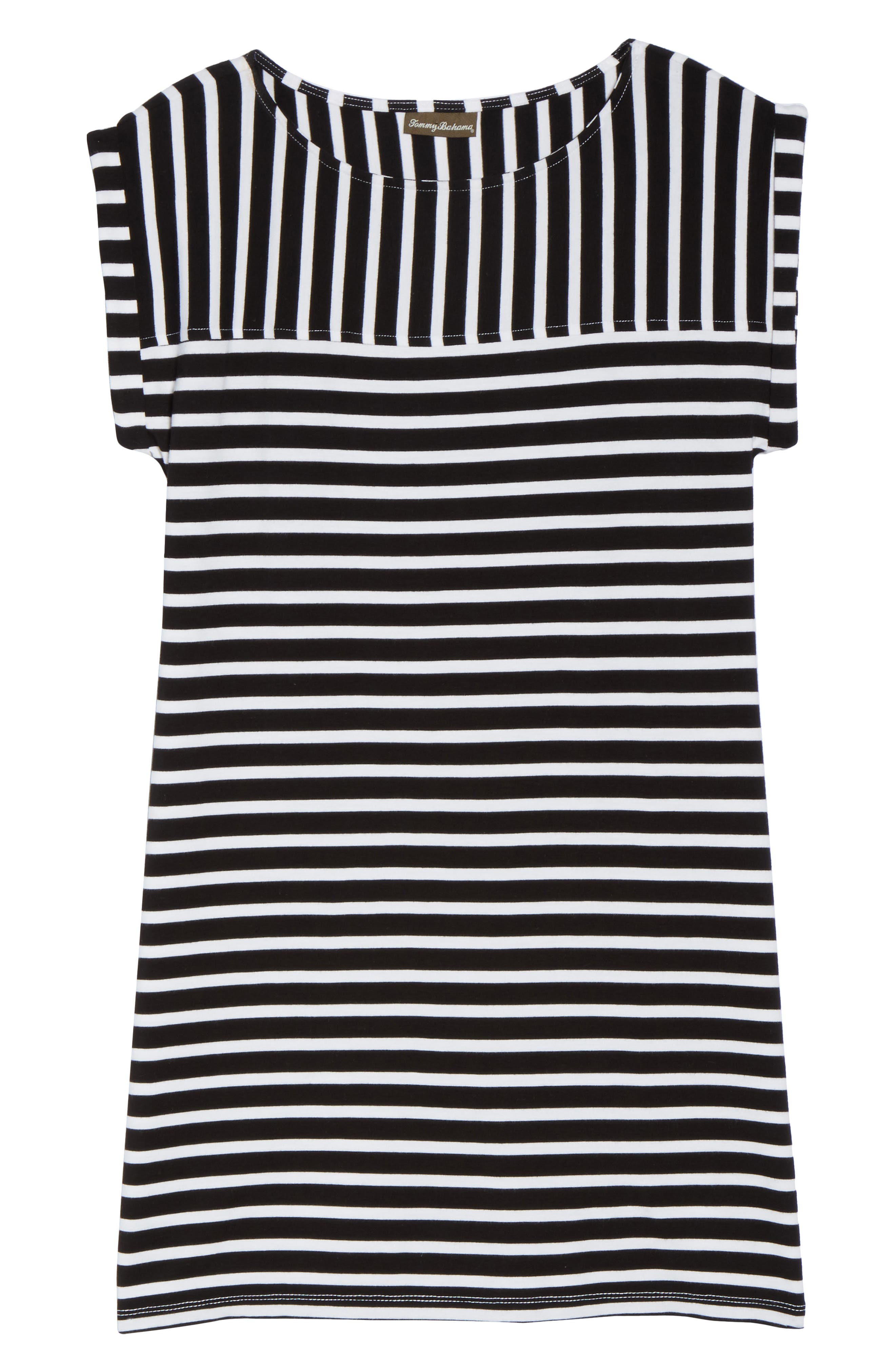 Breton Stripe Cover-Up Dress,                             Alternate thumbnail 6, color,