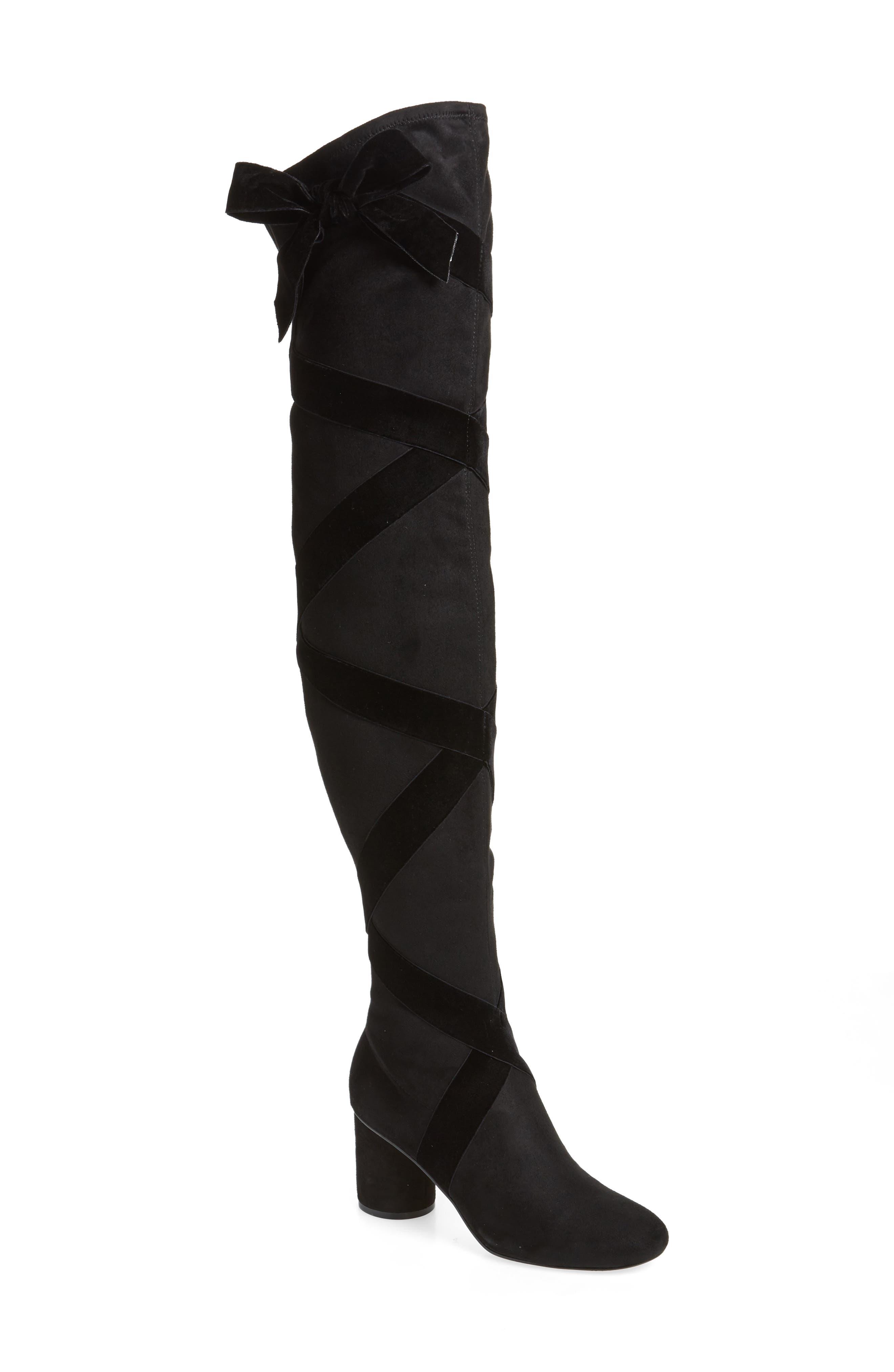 Karl Lagerfeld Paris Faren Over The Knee Boot, Black