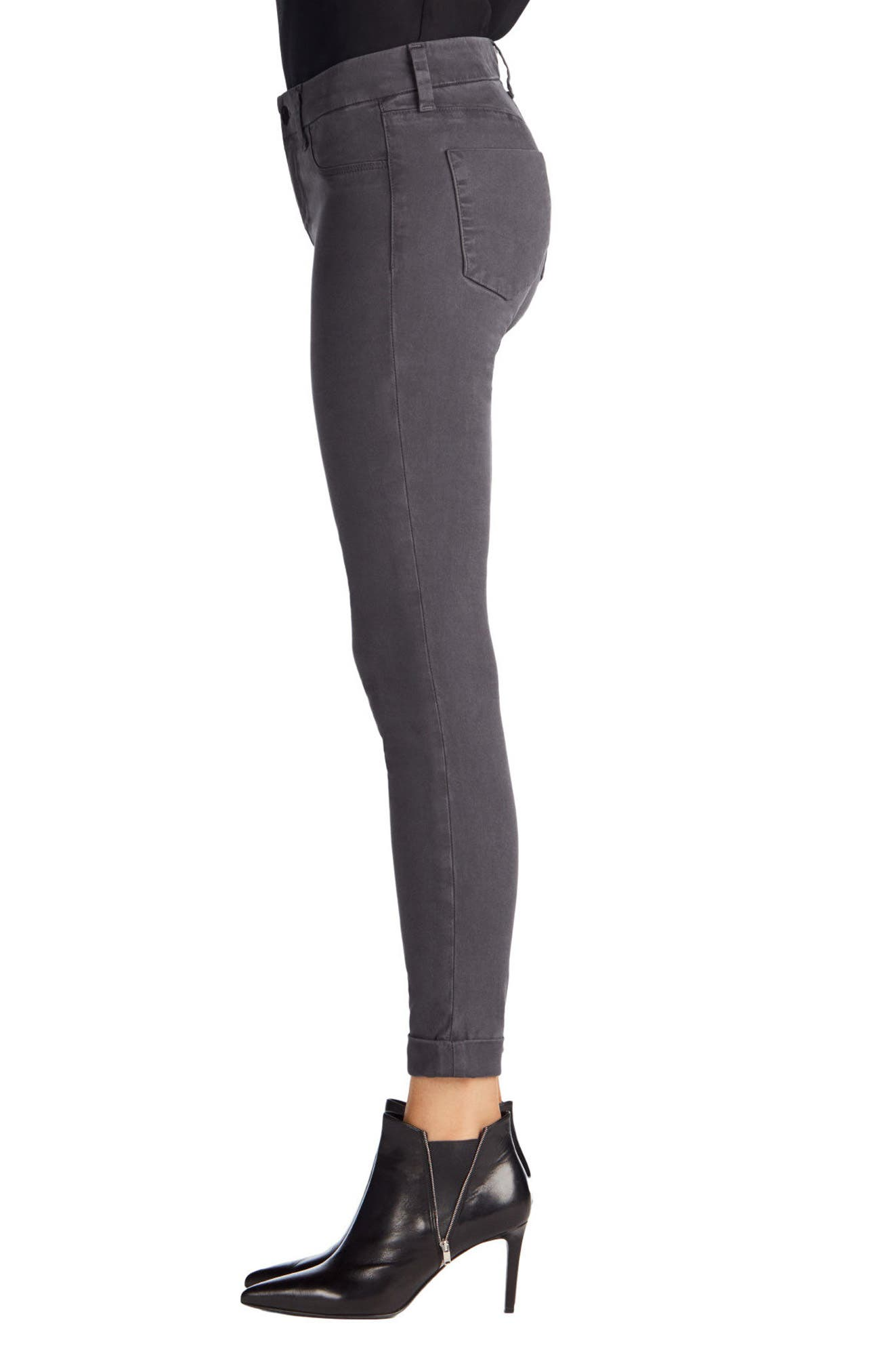 'Anja' Cuffed Crop Skinny Jeans,                             Alternate thumbnail 22, color,