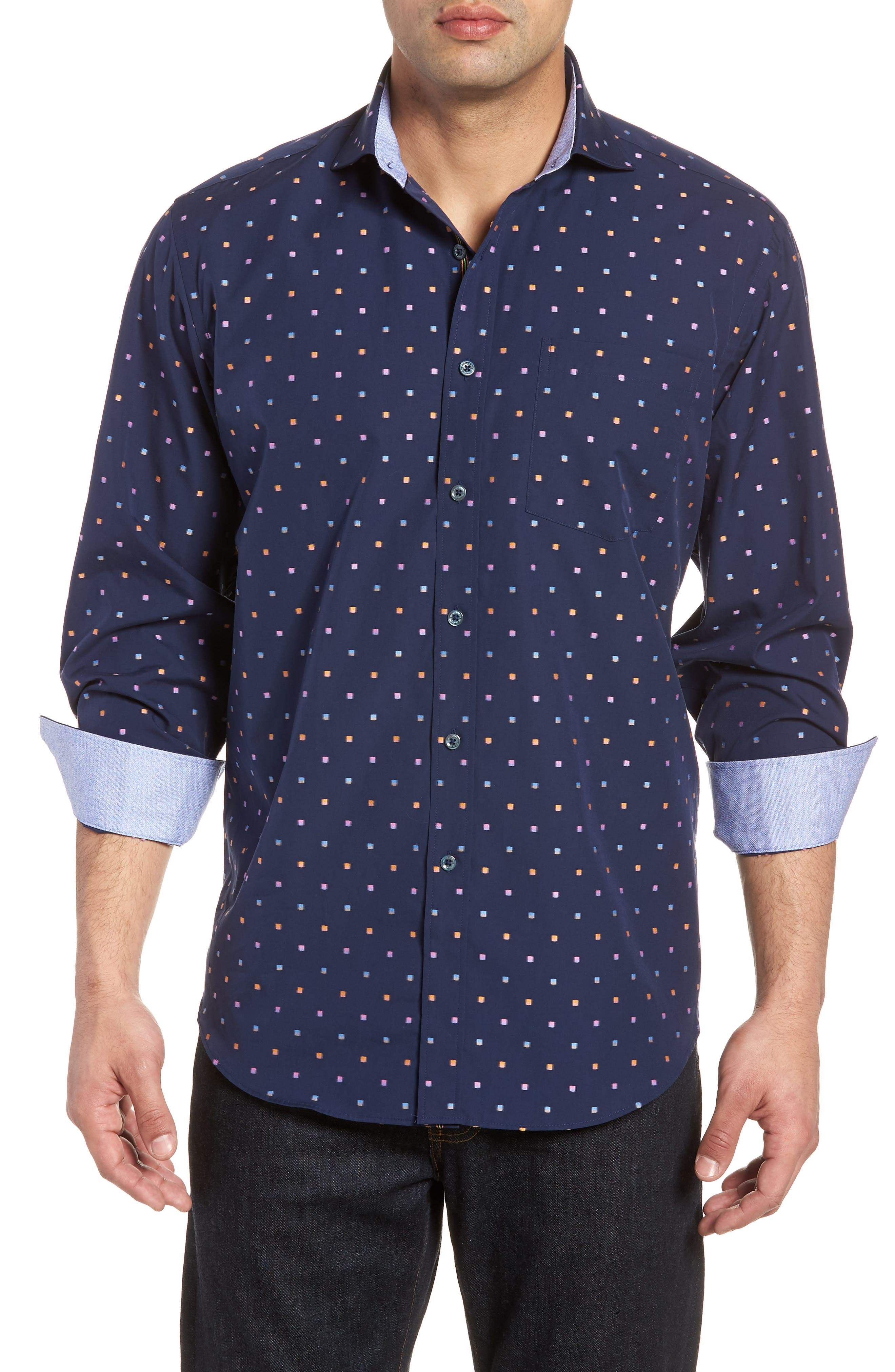Light in the Night Classic Fit Sport Shirt,                             Main thumbnail 1, color,