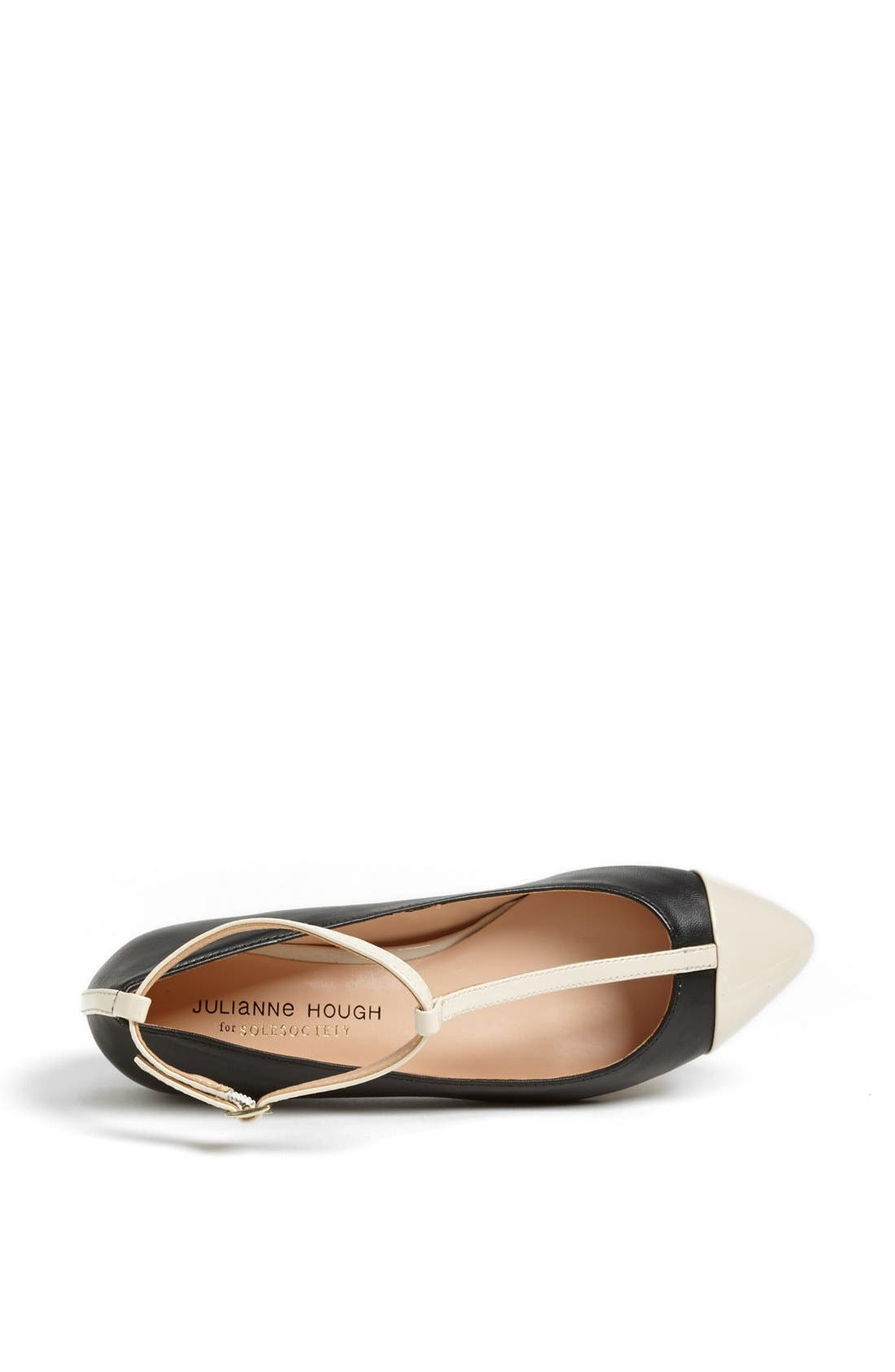 Julianne Hough for Sole Society 'Addy' Flat,                             Alternate thumbnail 2, color,                             001
