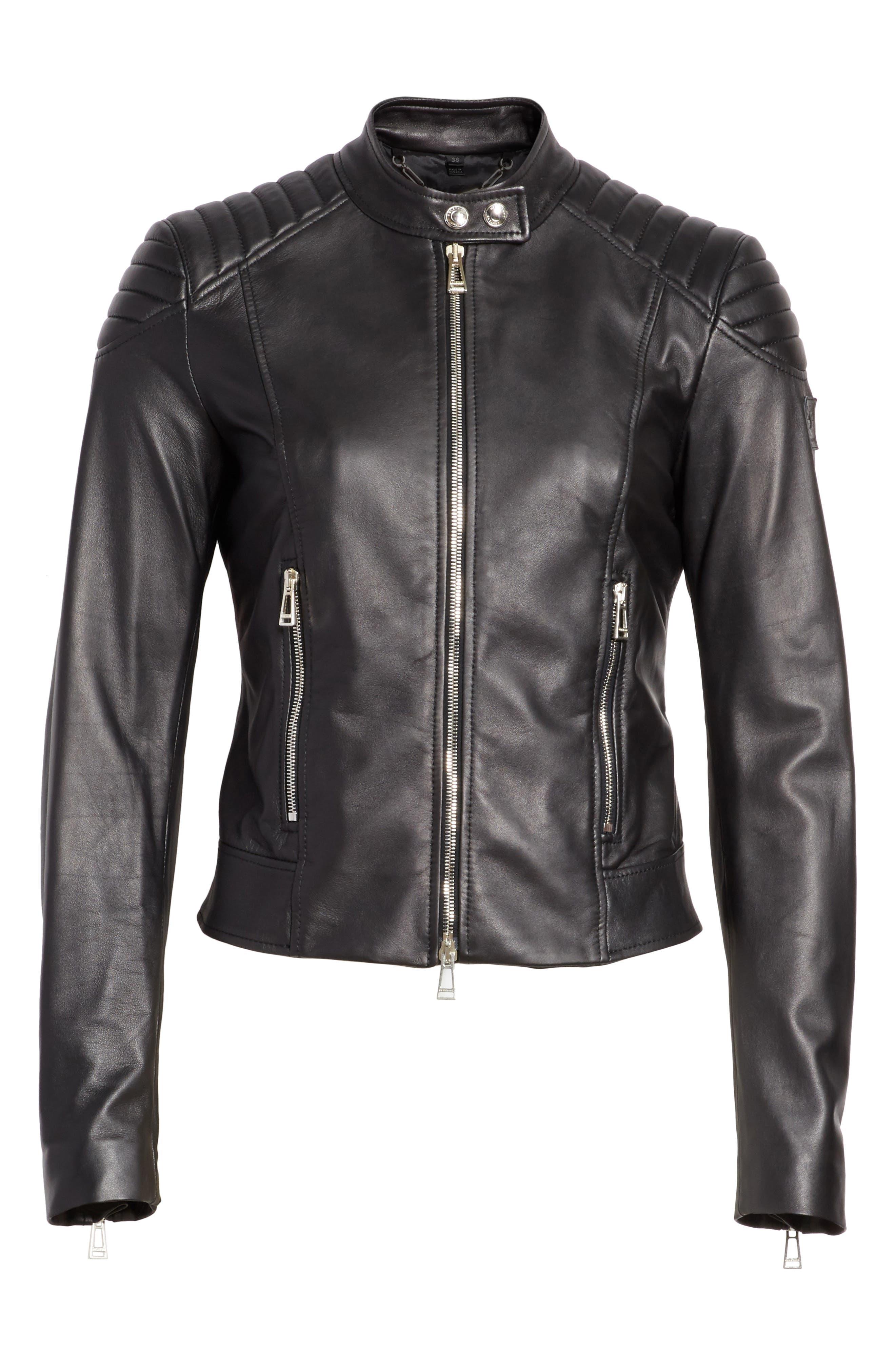 Mollison Leather Moto Jacket,                             Alternate thumbnail 12, color,