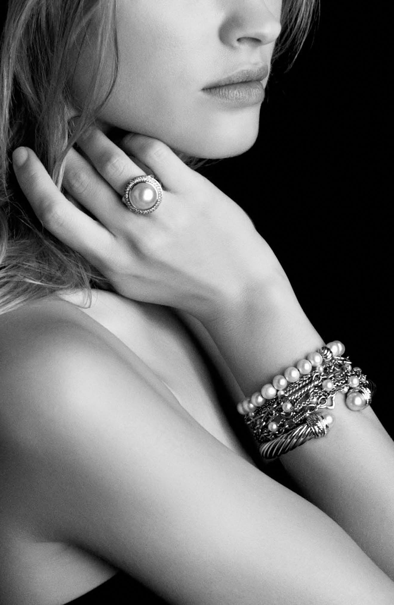 'Spiritual Beads' Bracelet with Pearls,                             Alternate thumbnail 4, color,                             PEARL
