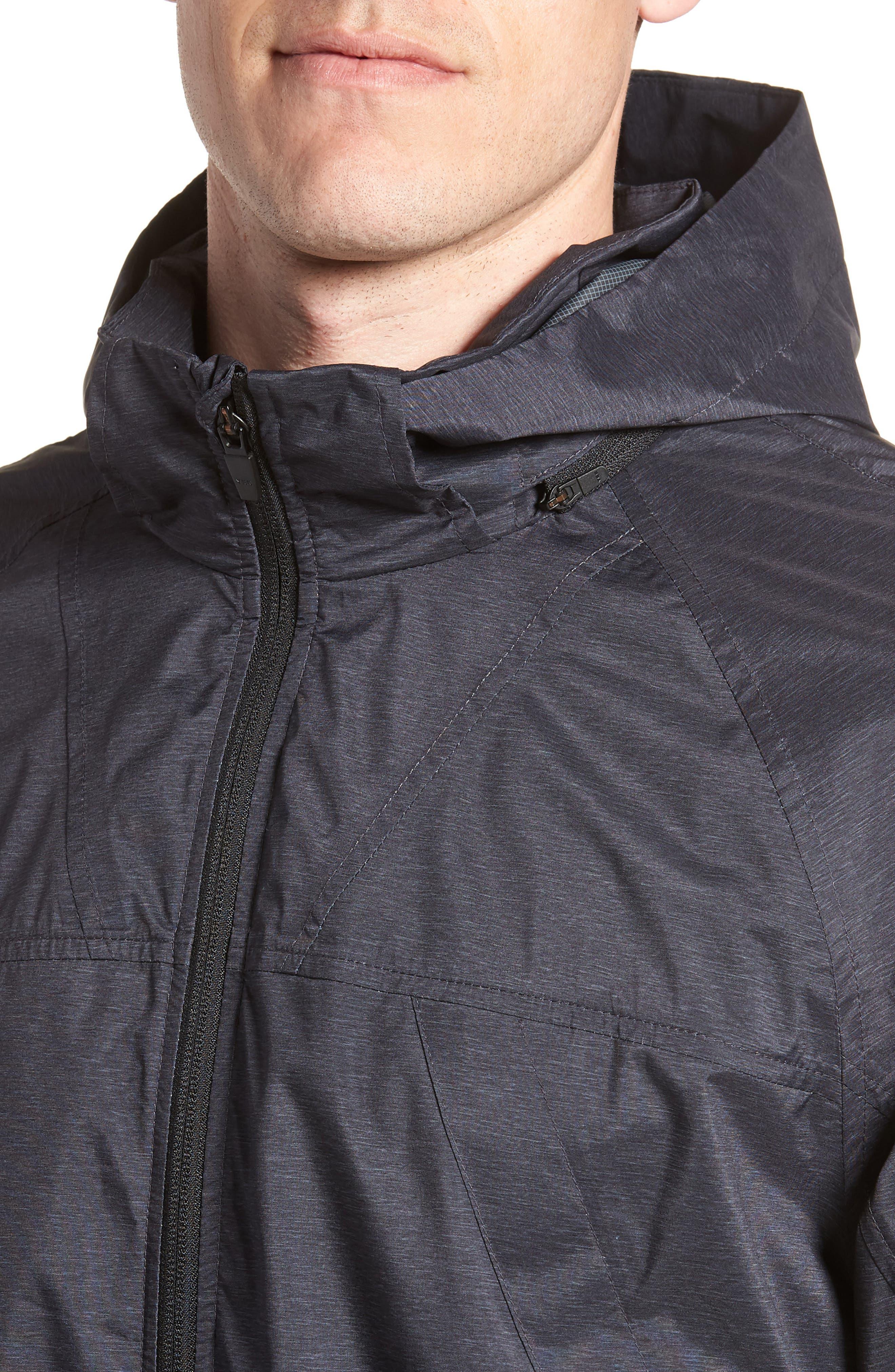 ZELLA,                             Xieite Hooded Jacket,                             Alternate thumbnail 4, color,                             001