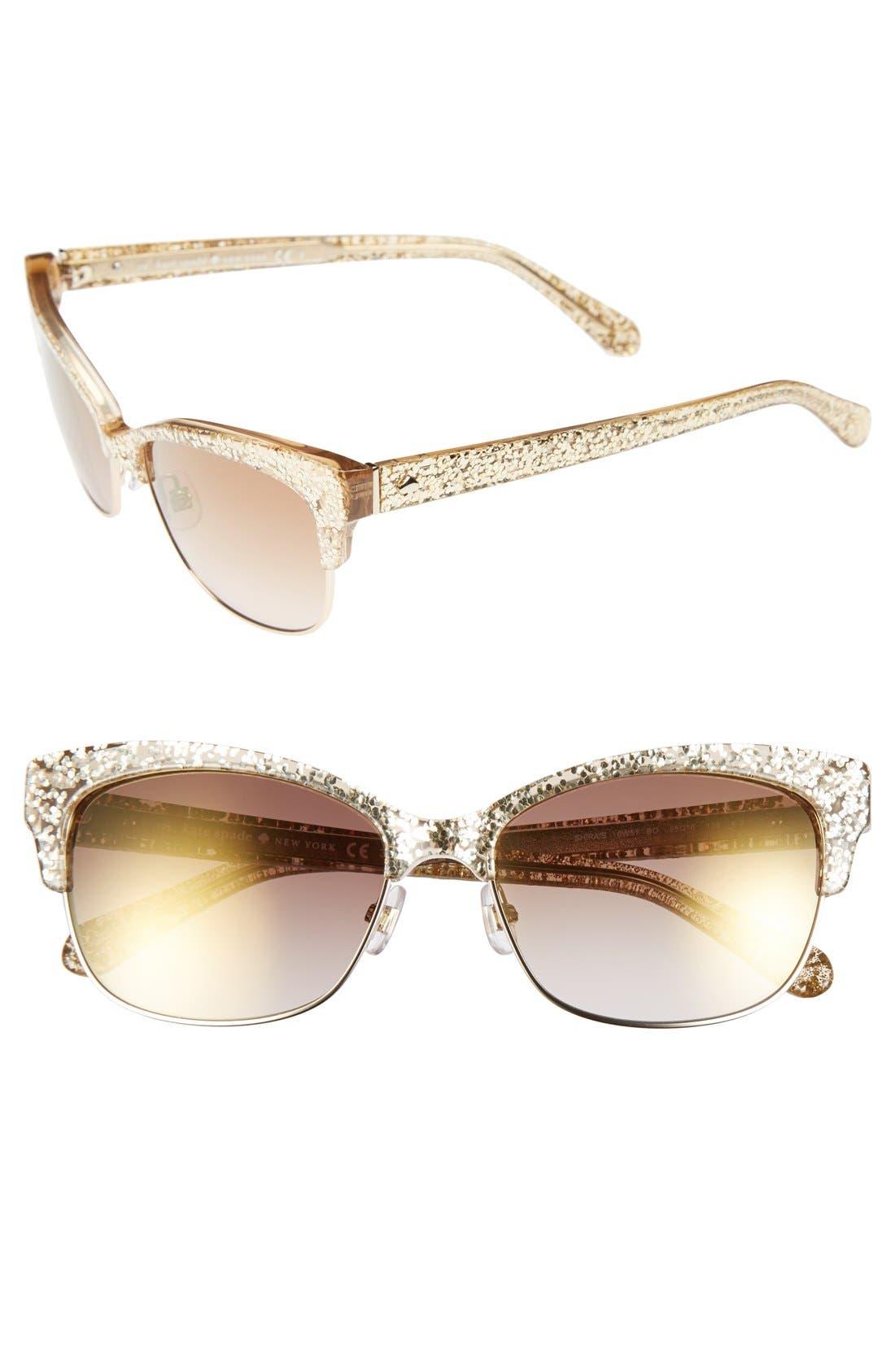 shira 55mm retro sunglasses,                             Main thumbnail 3, color,