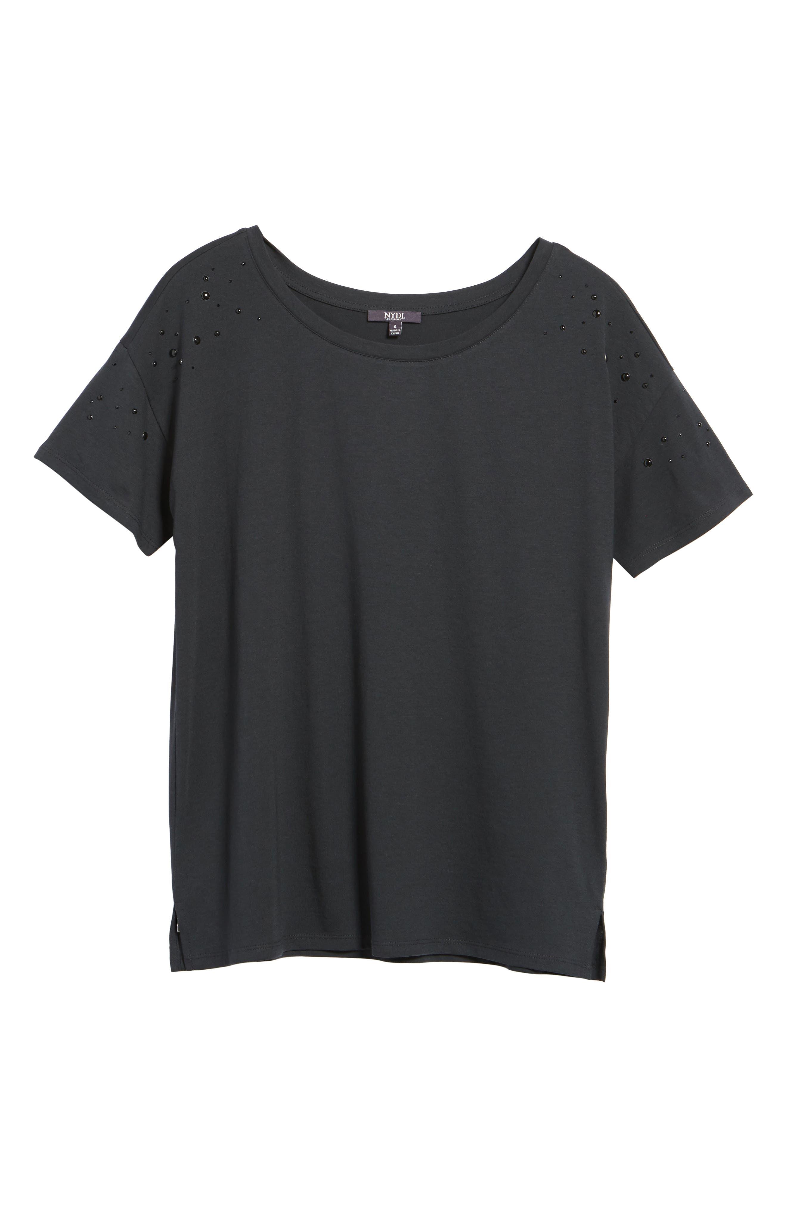 Short Sleeve Pearly T-Shirt,                             Alternate thumbnail 11, color,