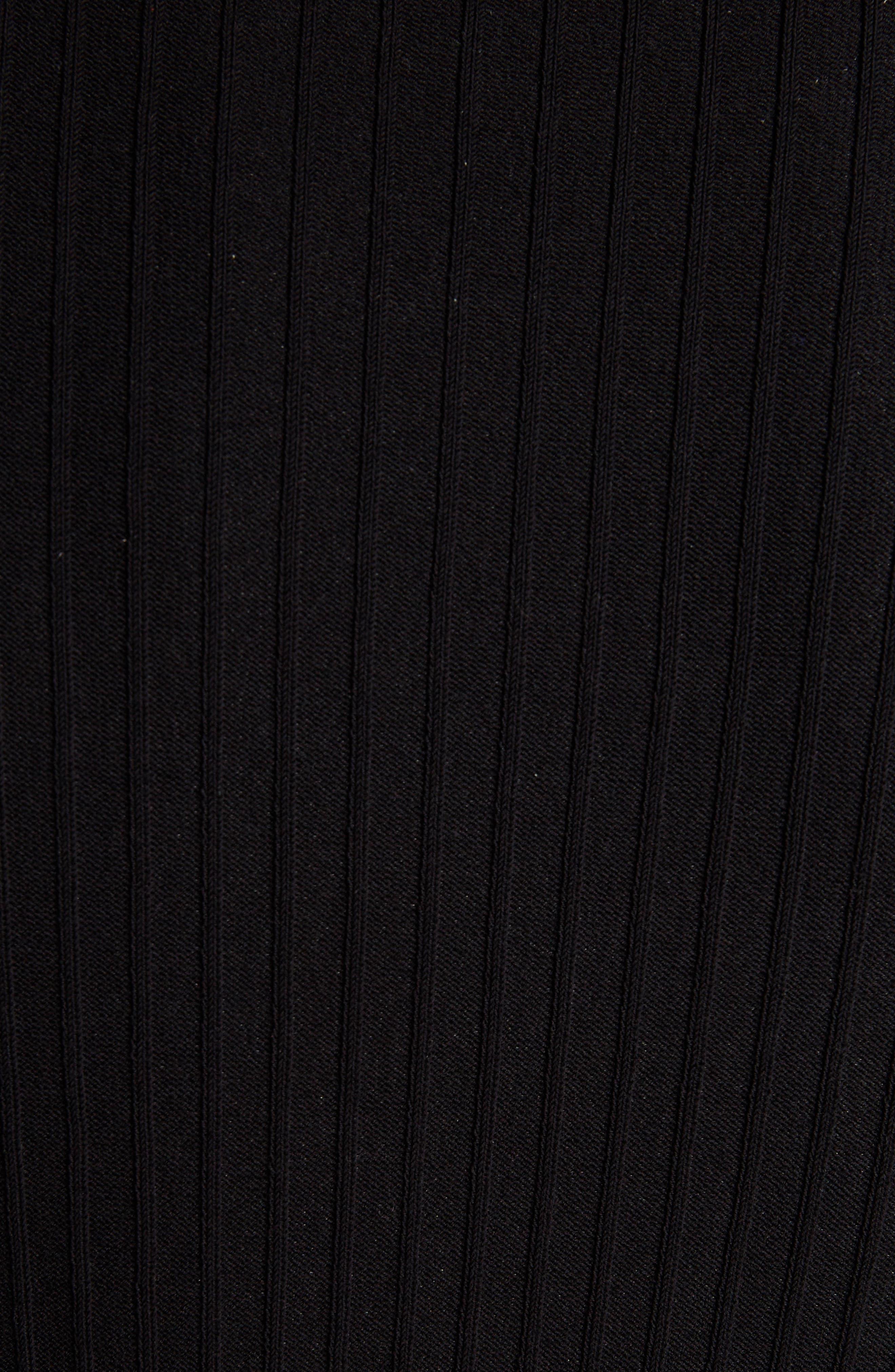 Acne Design Studios Iza Ribbed Sweater,                             Alternate thumbnail 5, color,                             001