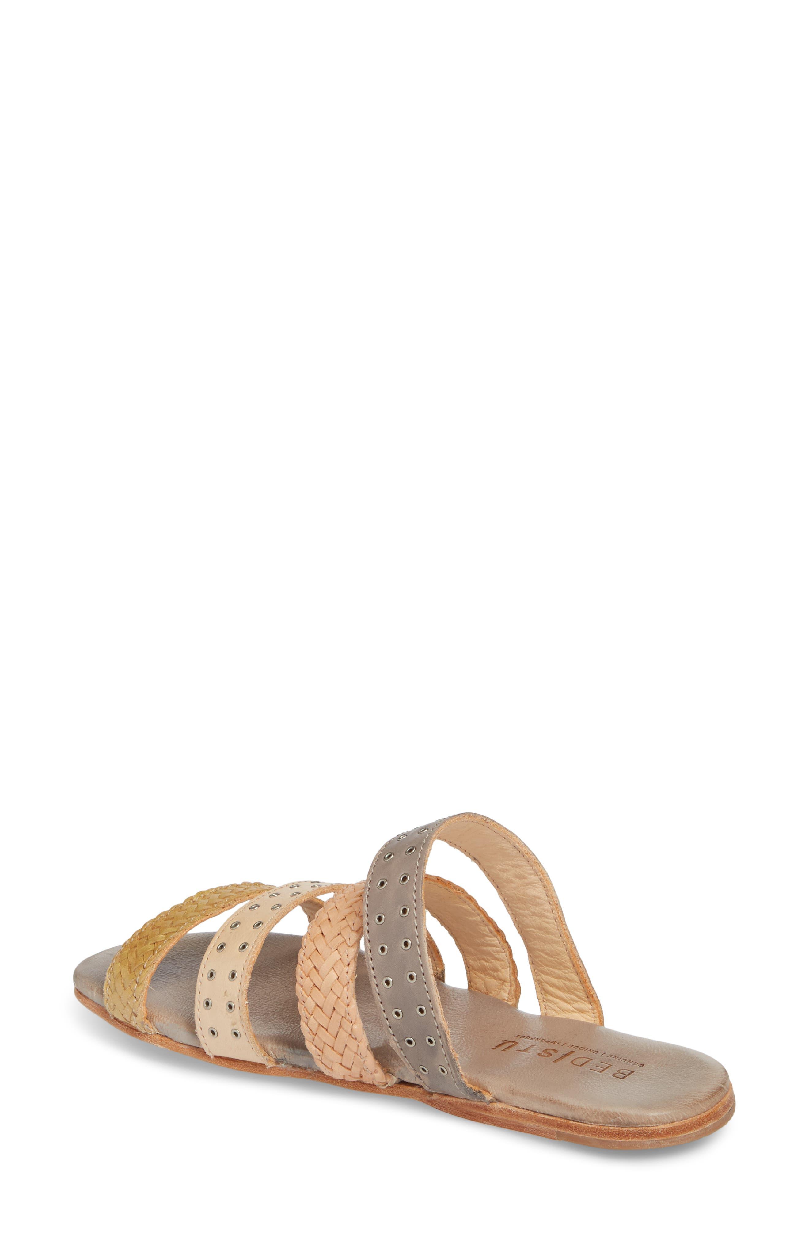 Henna Slide Sandal,                             Alternate thumbnail 2, color,                             CASHEW/ LIGHT GREY LEATHER