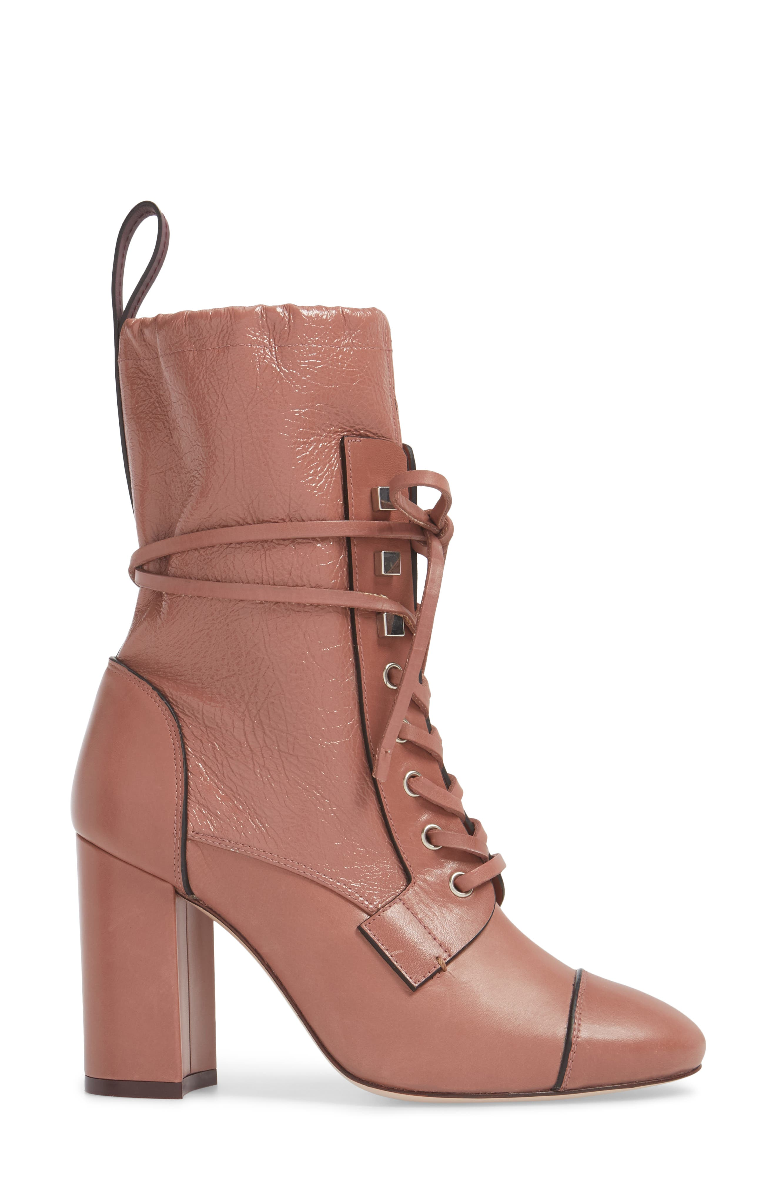 Veruka Lace-Up Boot,                             Alternate thumbnail 3, color,                             ROSE CLAY GLEAMING