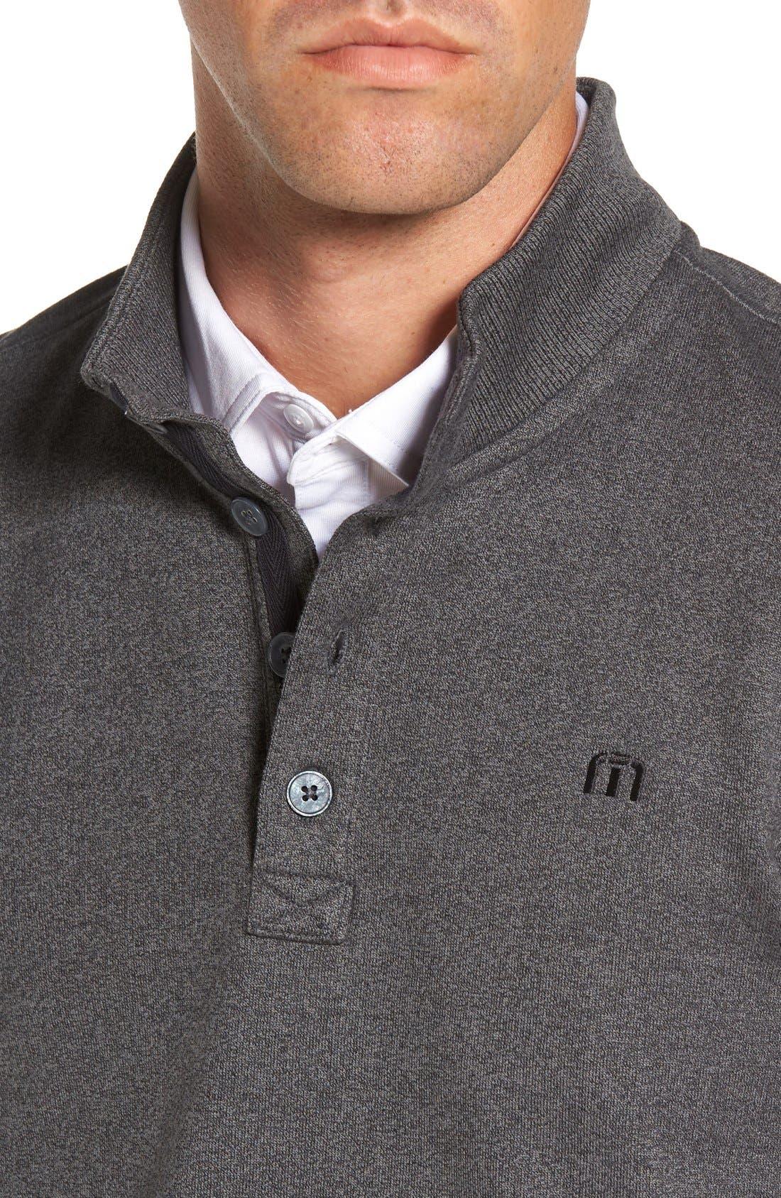 'Wall' Mock Neck Pullover,                             Alternate thumbnail 4, color,                             QUIET SHADE/ BLACK