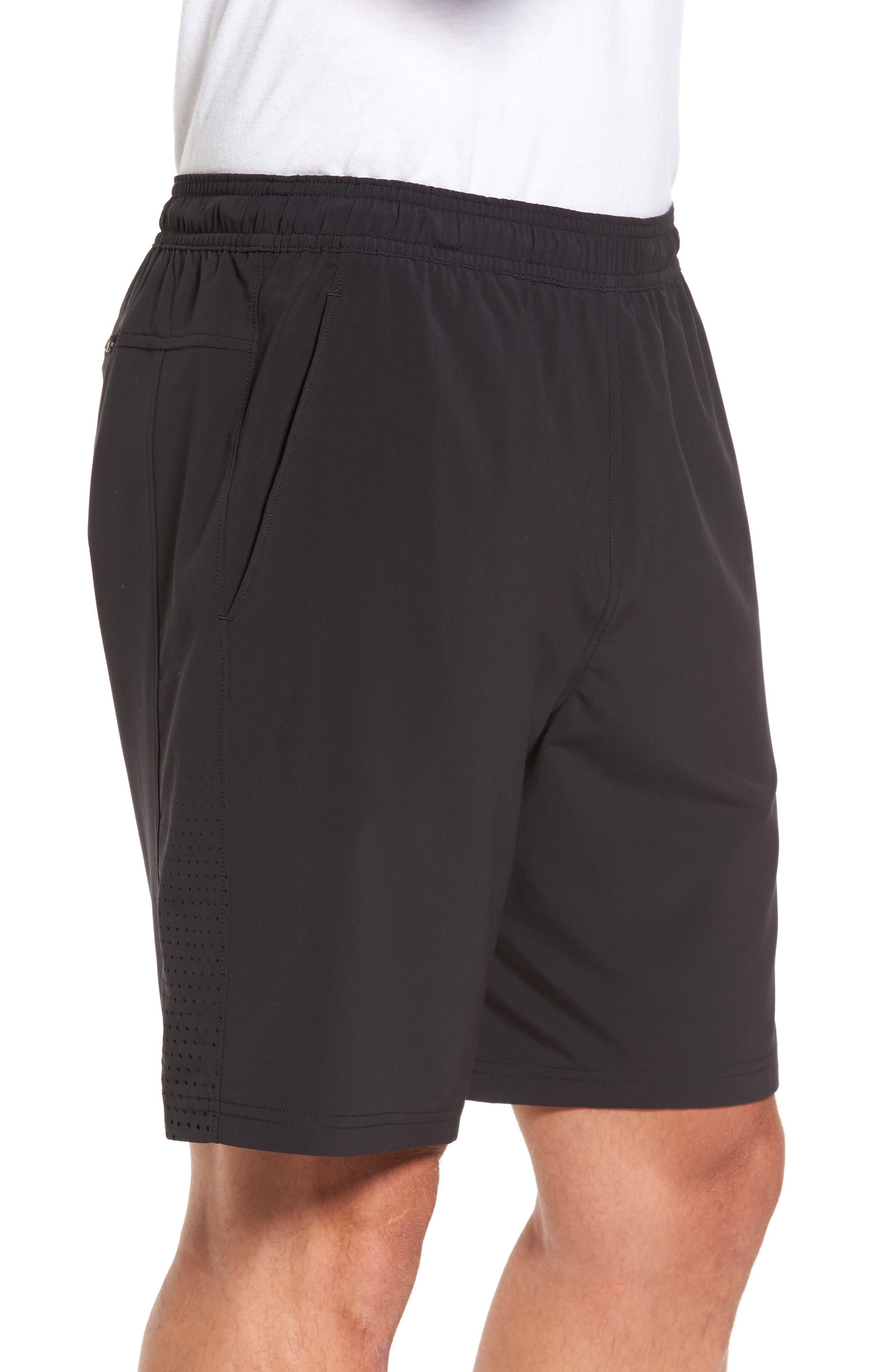 Graphite Core Athletic Shorts,                             Alternate thumbnail 3, color,                             BLACK