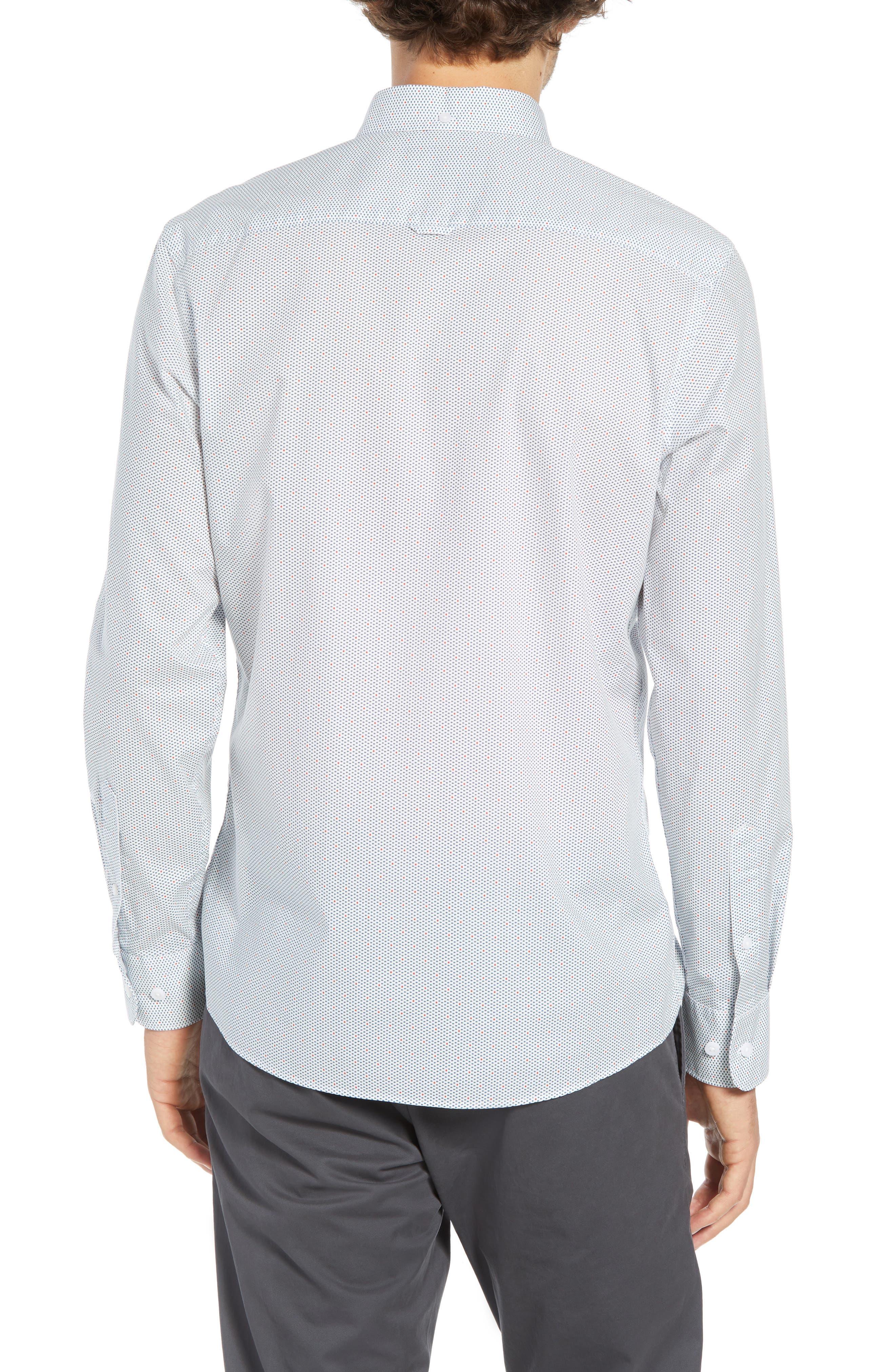 Trim Fit Multi Dot Sport Shirt,                             Alternate thumbnail 2, color,                             100