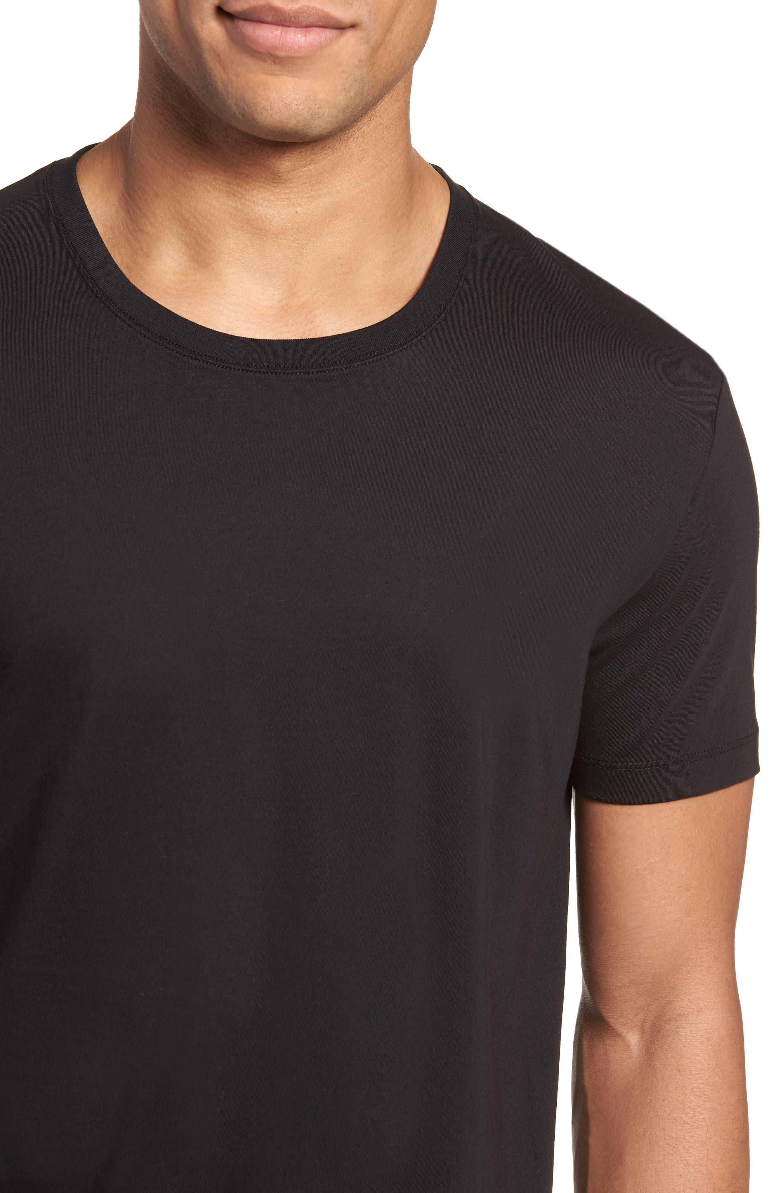 Tiburt Regular Fit Crewneck T-Shirt,                             Alternate thumbnail 4, color,                             001