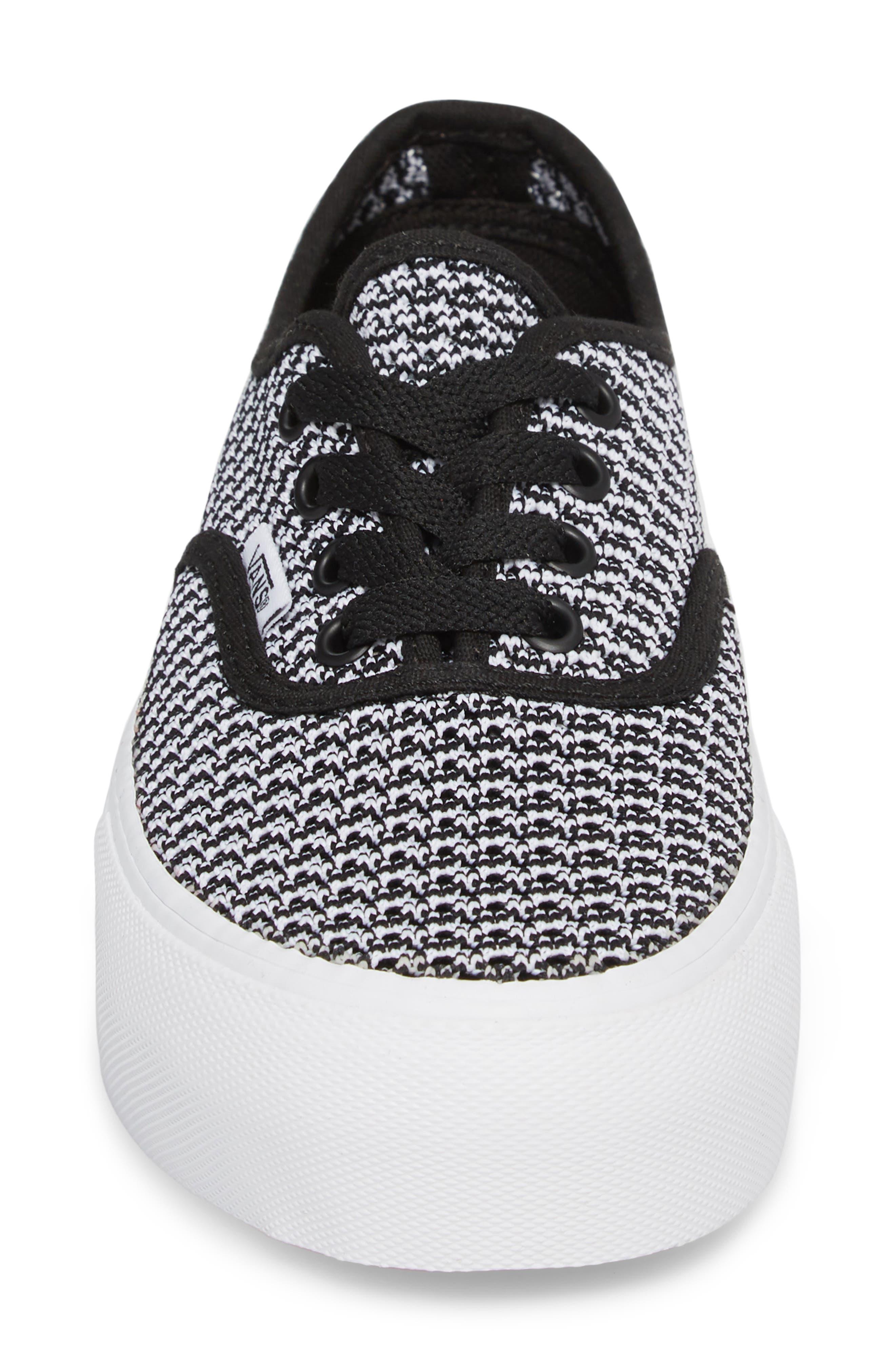 VANS,                             'Authentic' Platform Sneaker,                             Alternate thumbnail 4, color,                             004