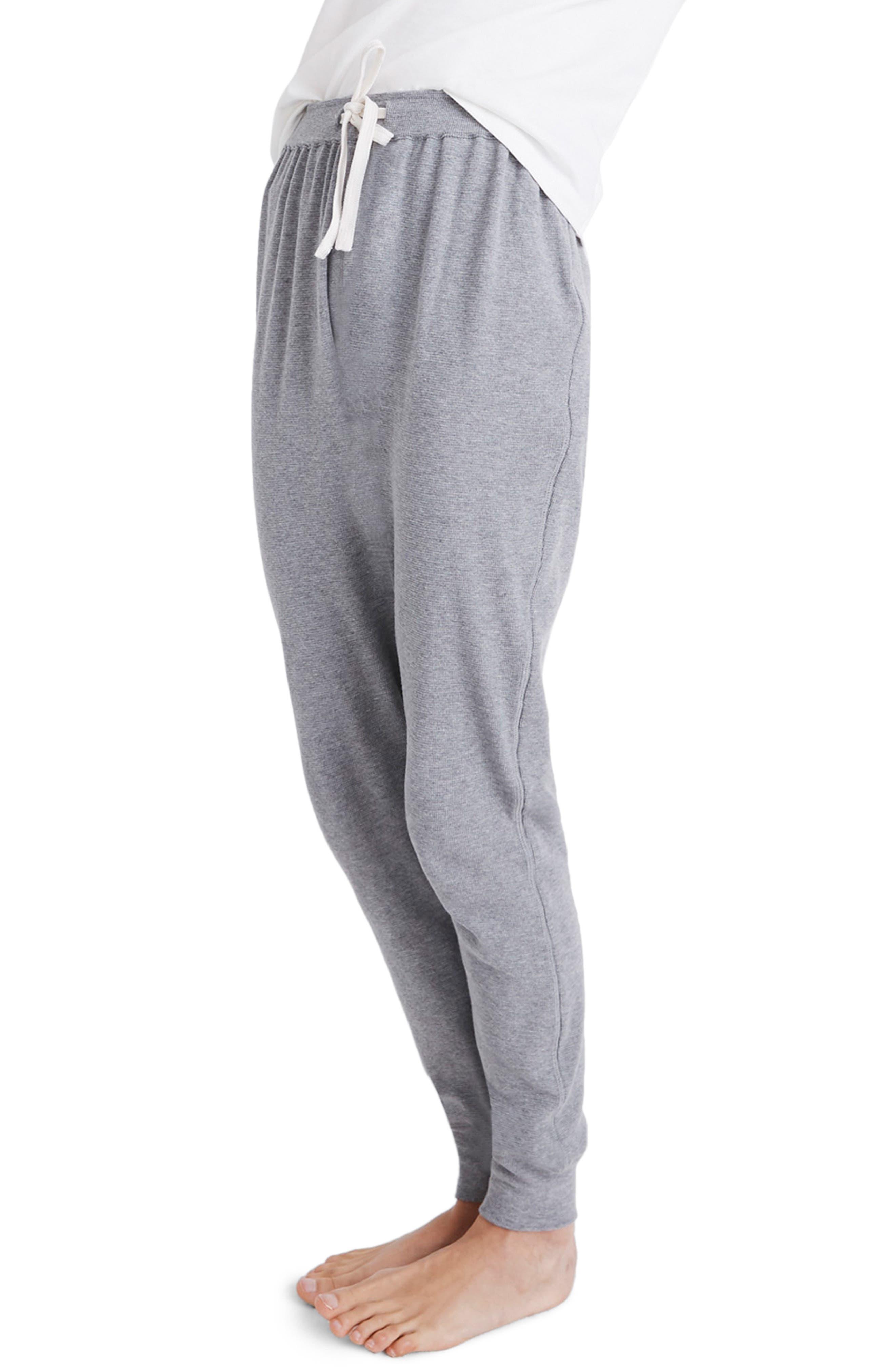 Honeycomb Pajama Sweatpants,                             Alternate thumbnail 3, color,                             HEATHER PEPPER
