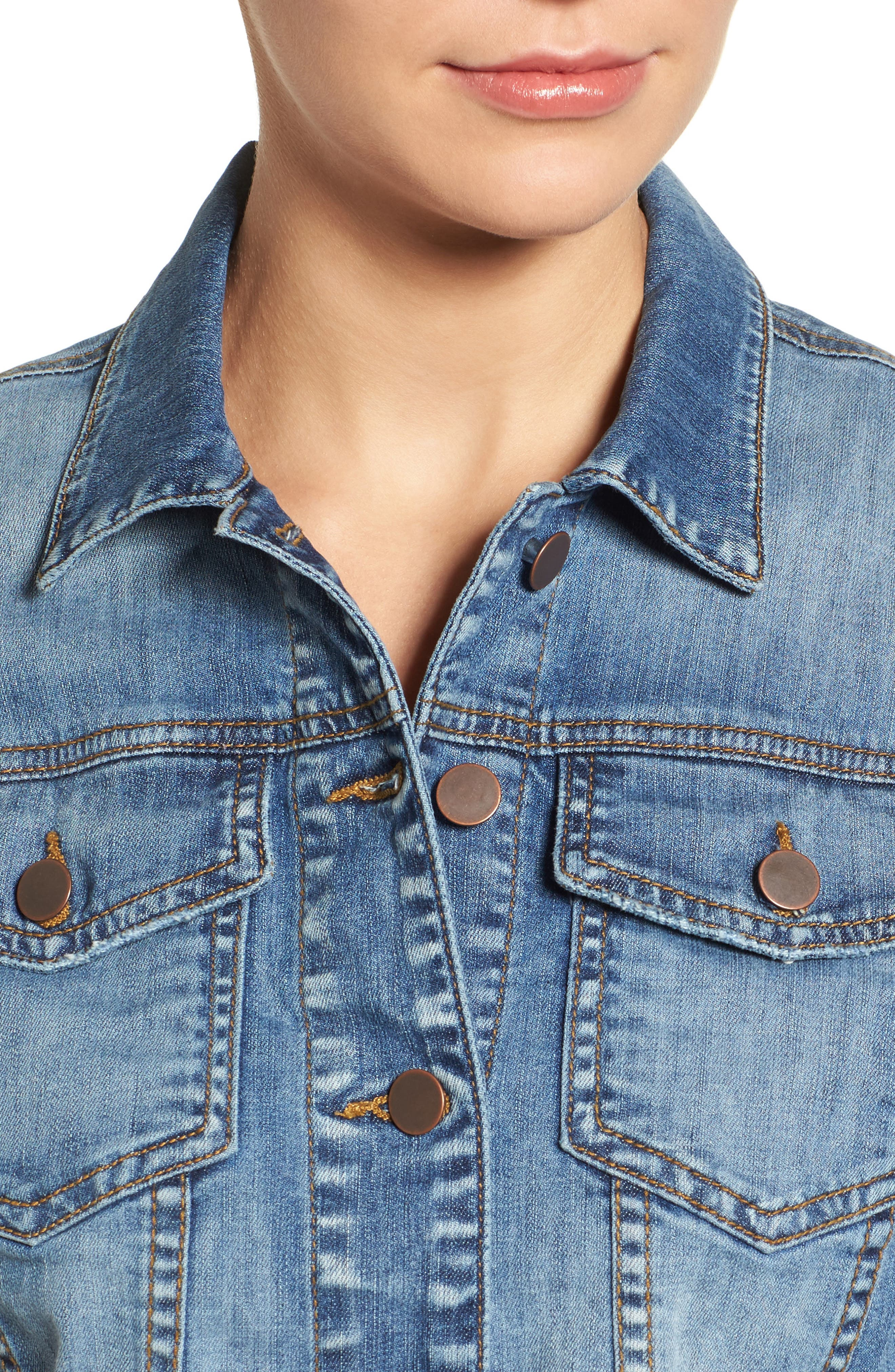 'Helena' Denim Jacket,                             Alternate thumbnail 18, color,