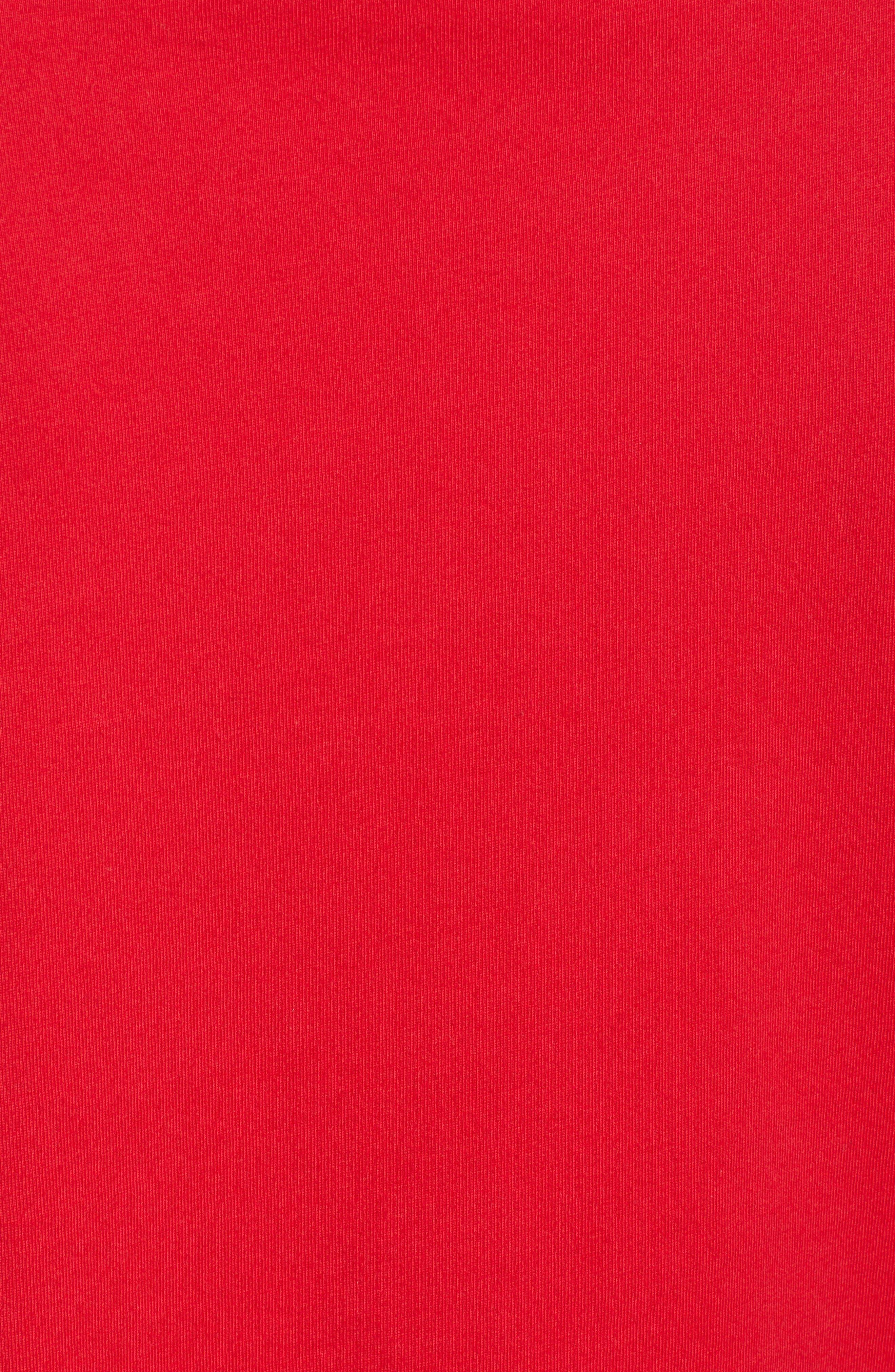 SLEEPY JONES,                             Silent Night Tee,                             Alternate thumbnail 5, color,                             RED
